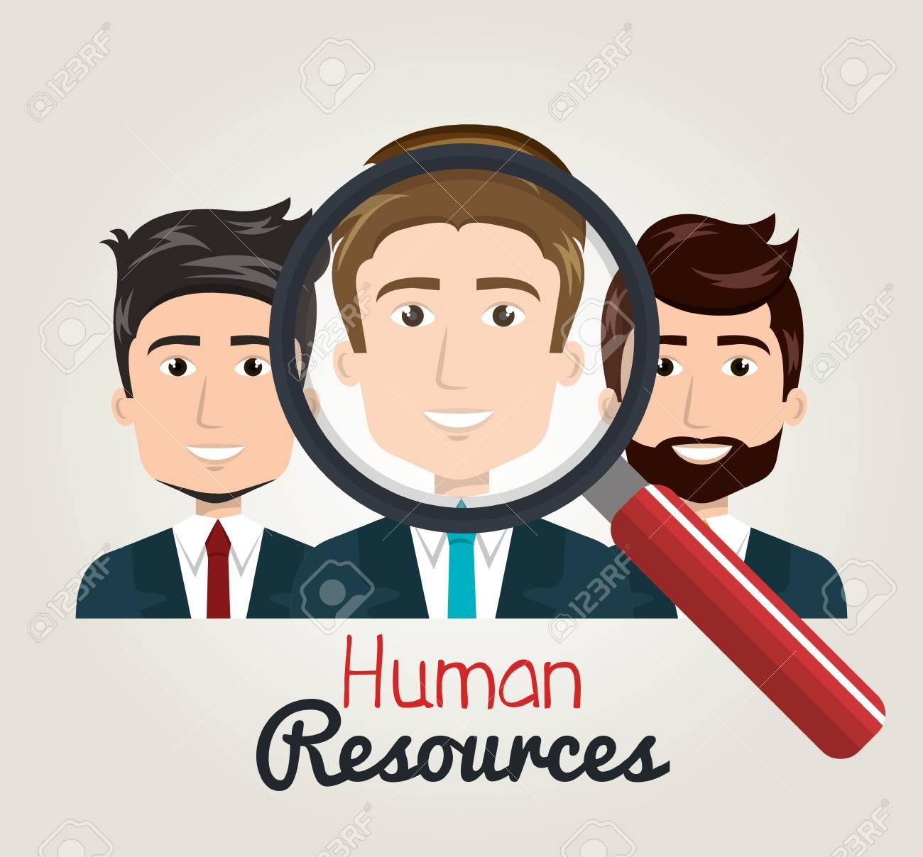 Los Hombres De Dibujos Animados De Búsqueda De Recursos Humanos