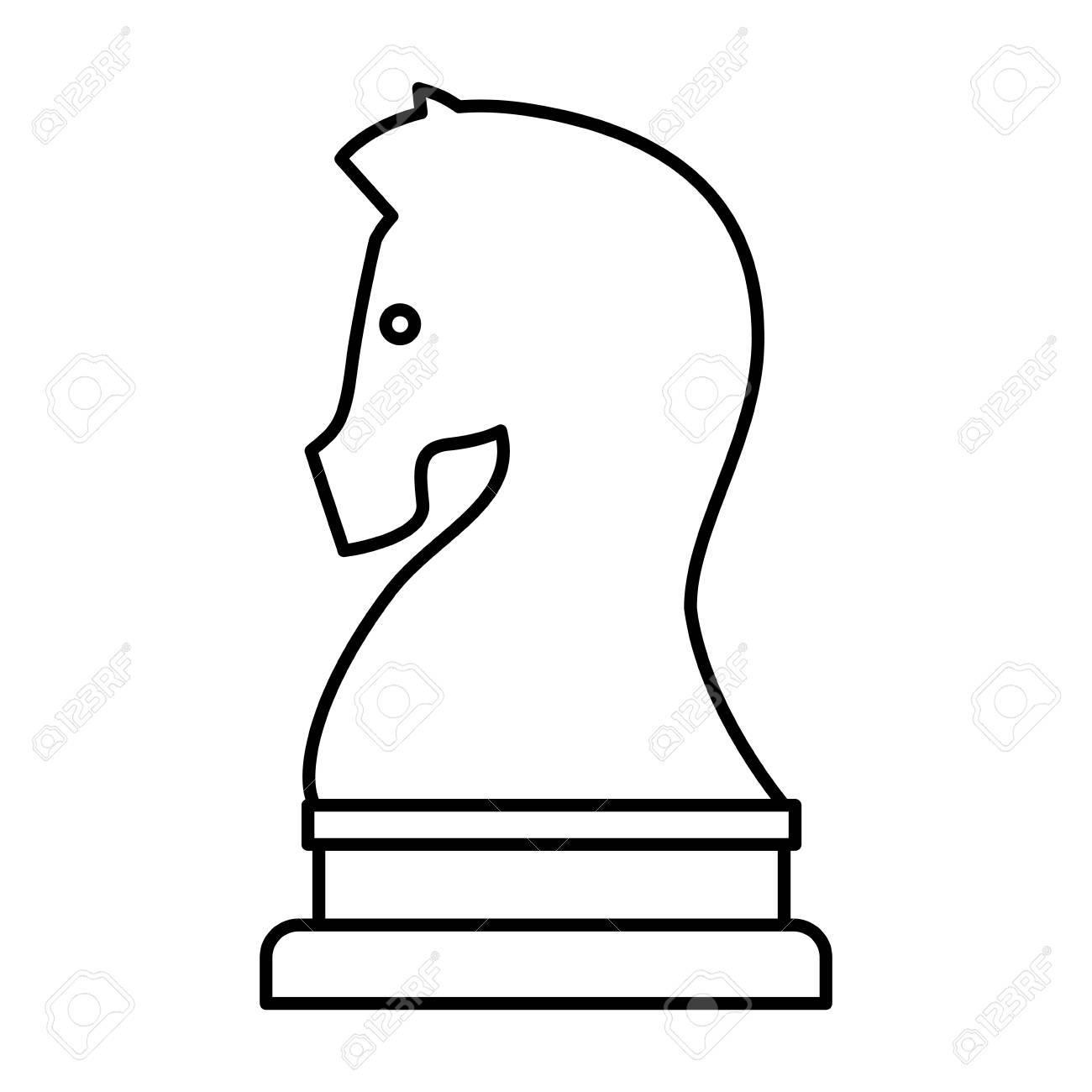 馬ワンピース チェス分離アイコン ベクトル イラスト デザインのイラスト