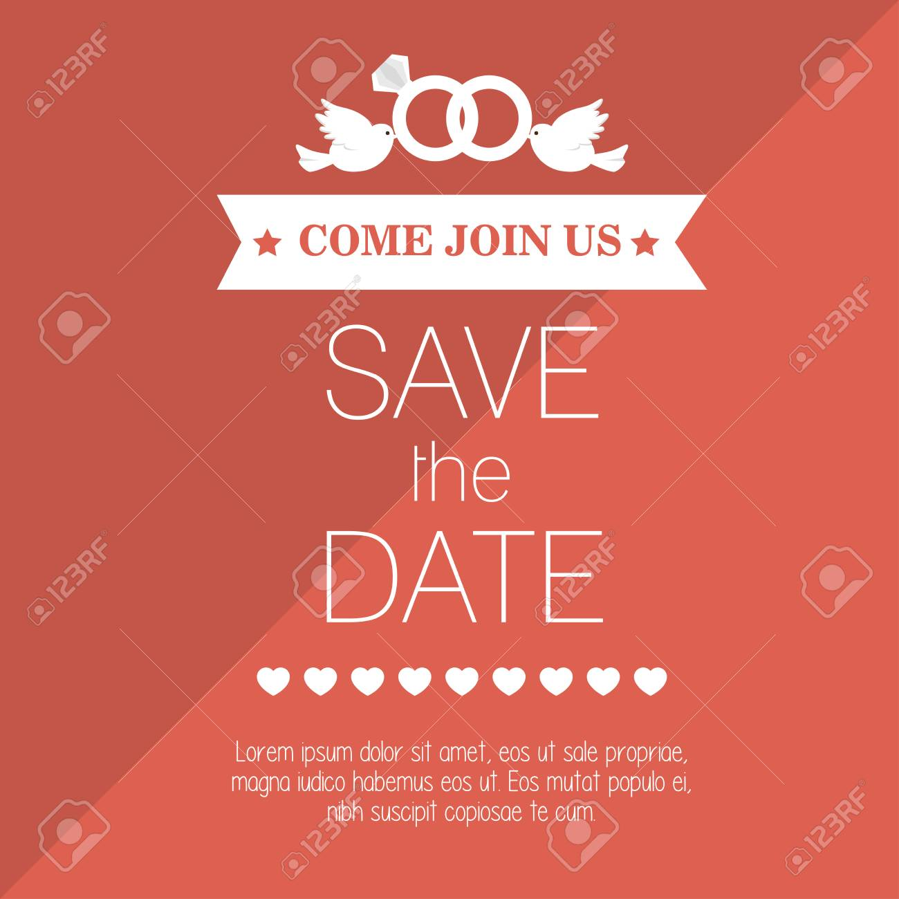 Wedding Invitation Save The Date Design, Vector Illustration ...