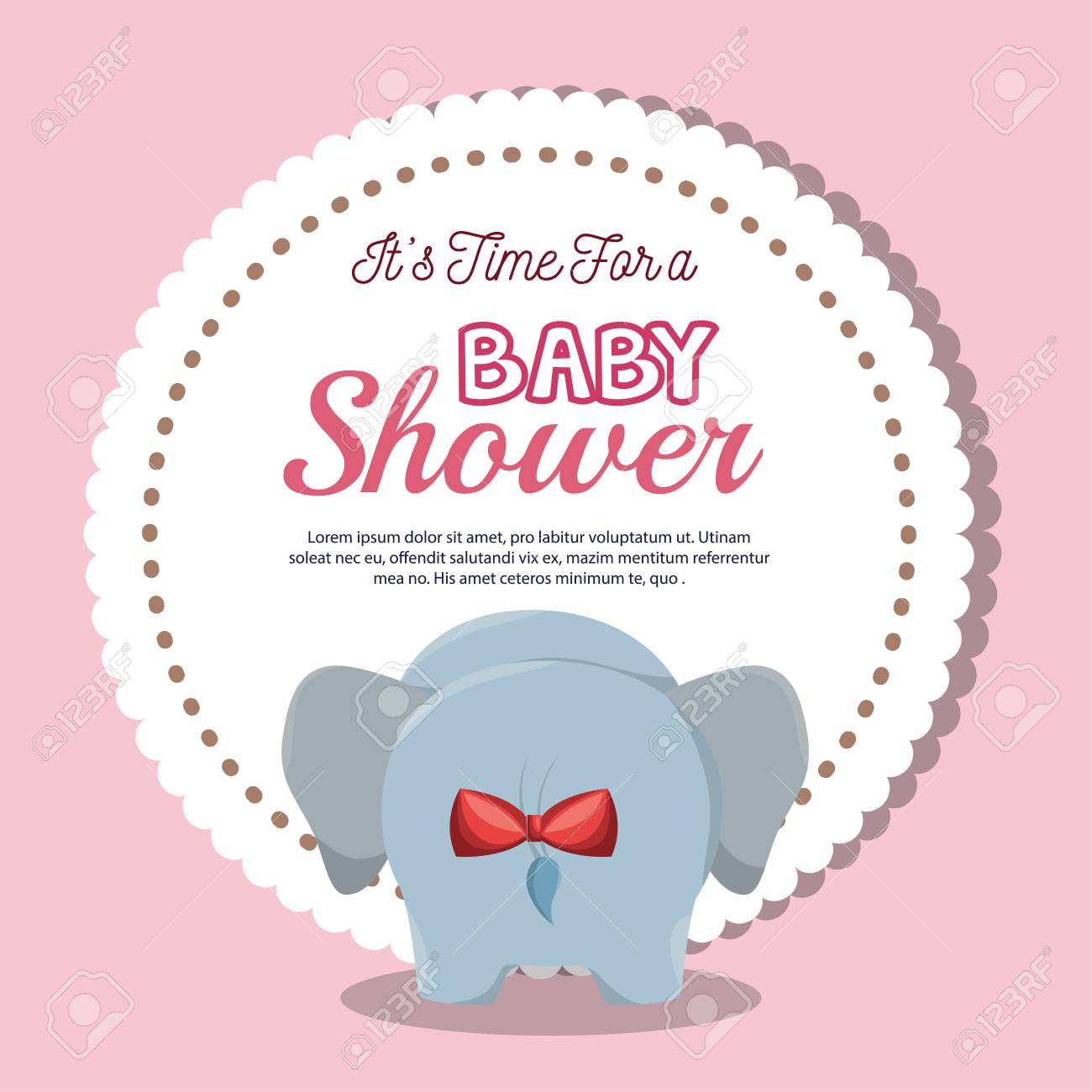 Baby shower invitation with cute animal vector illustration design baby shower invitation with cute animal vector illustration design banco de imagens 64337972 stopboris Image collections
