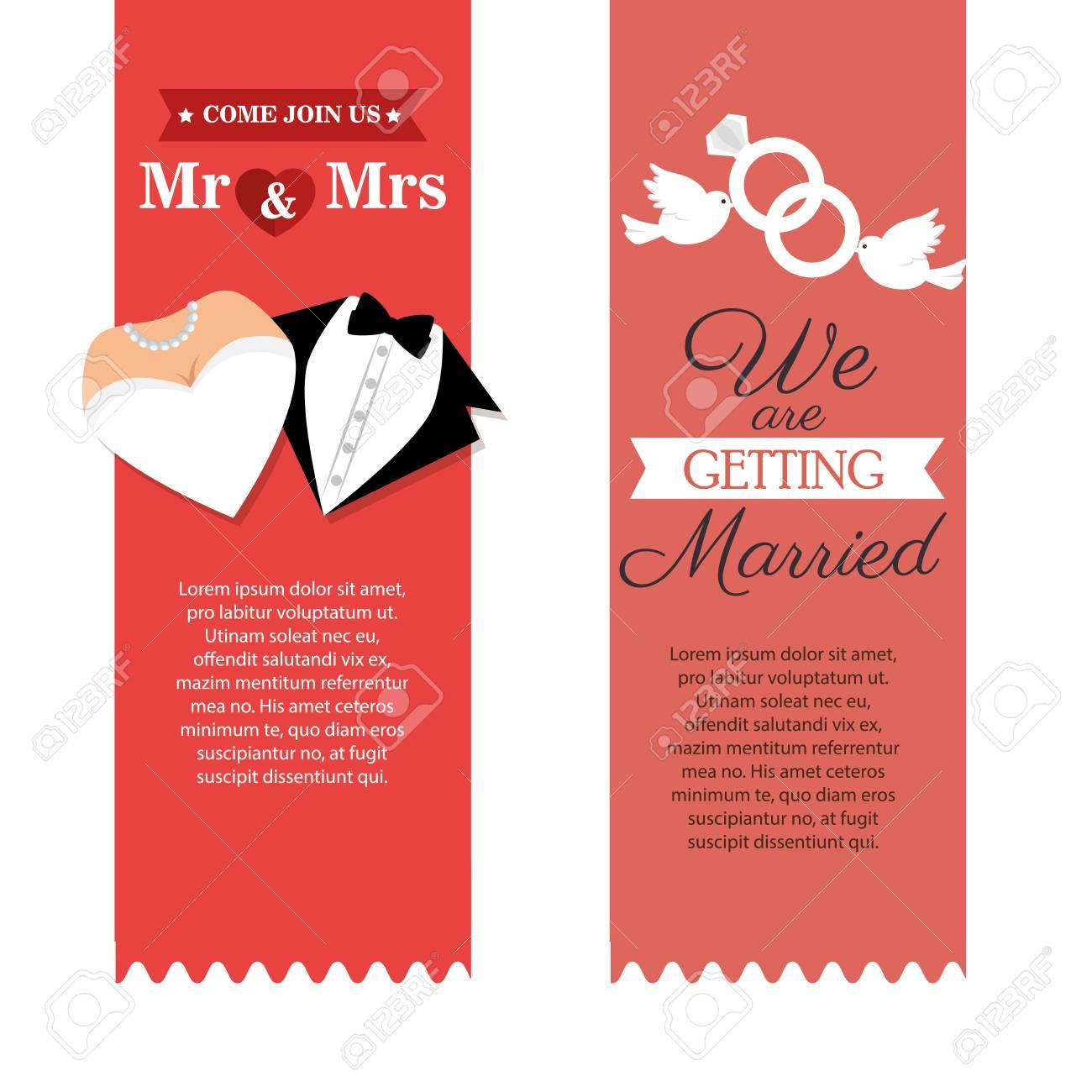 Wedding Invitation Card Icon Vector Illustration Design Royalty Free ...