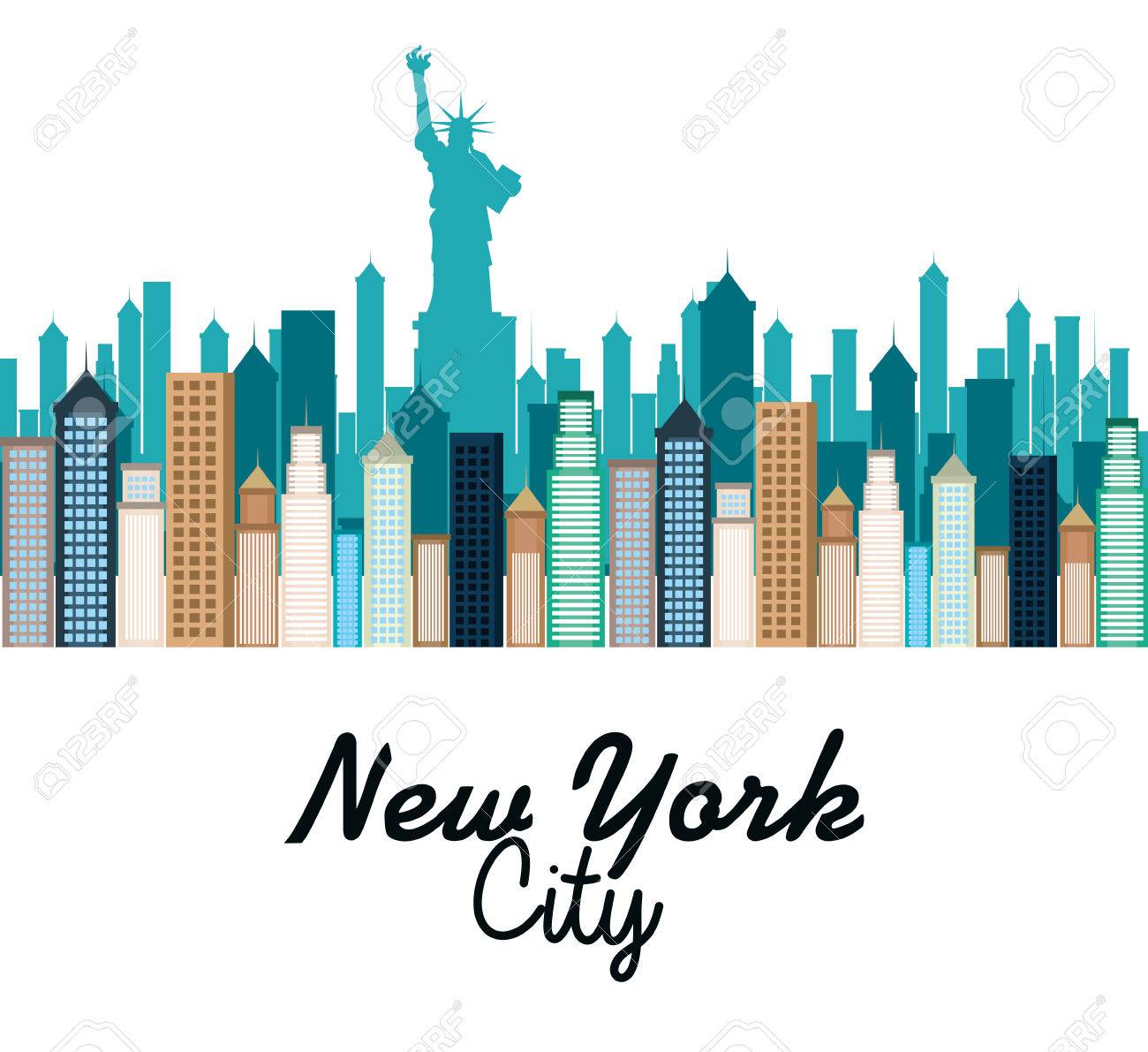 new york city cityscape vector illustration design royalty free rh 123rf com cityscape vector image free vector cityscape