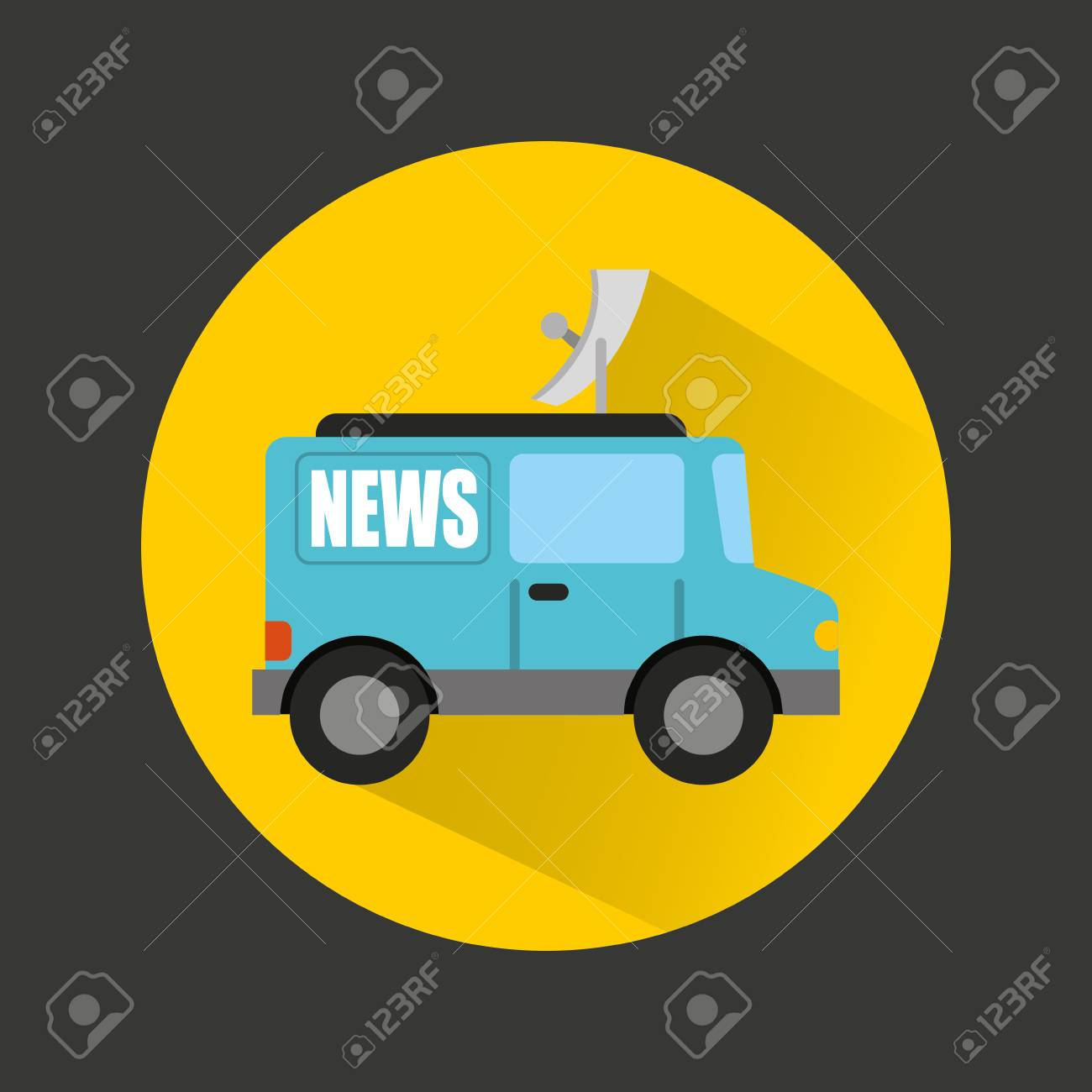 breaking news car isolated icon vector illustration design royalty