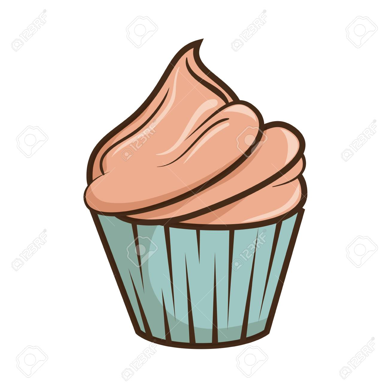 happy birthday delicious cupcake vector illustration design royalty rh 123rf com cupcake vector free cupcake vector illustrator