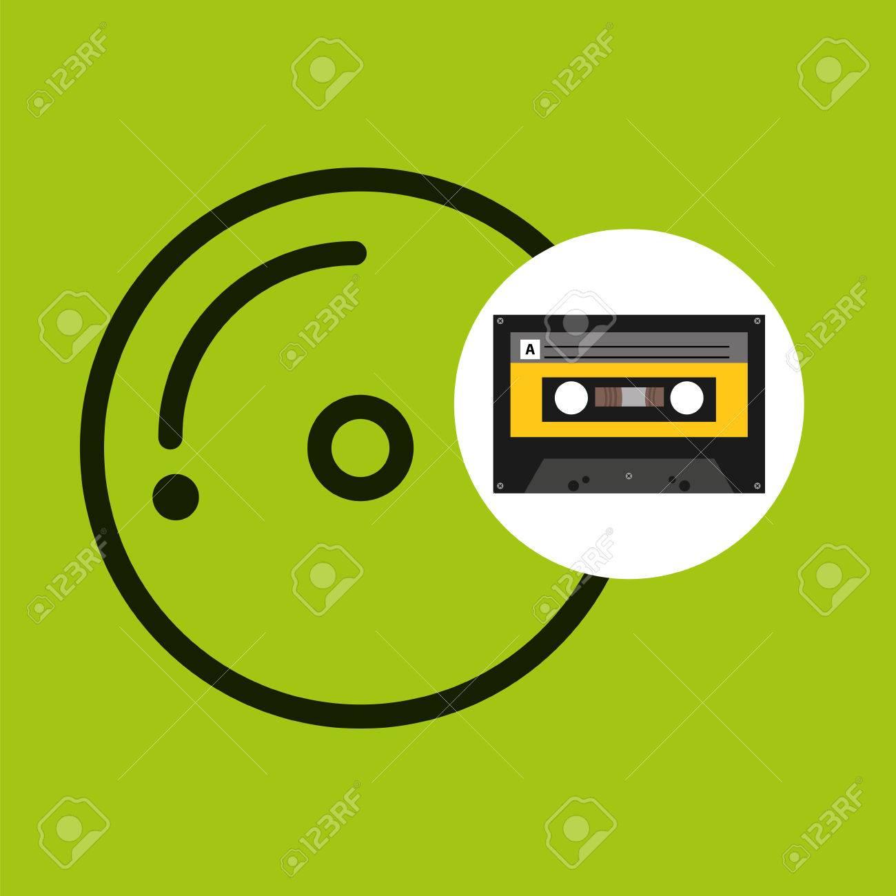Cd コンパクトな音楽カセット テープ ベクトル イラスト Eps 10の