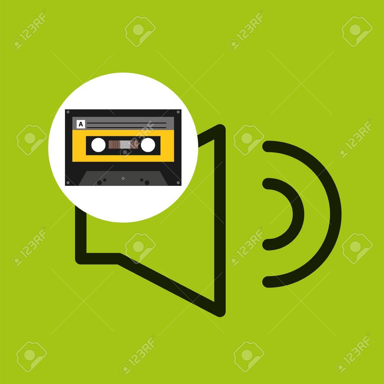 ボリュームの音楽カセット テープ ベクトル イラスト Eps 10のイラスト