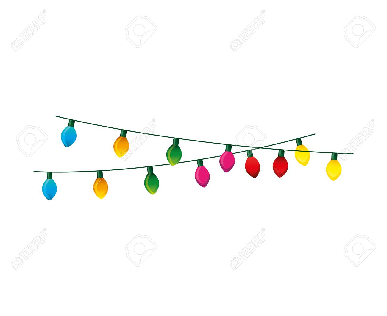 christmas lights decorative icon vector illustration design royalty rh 123rf com vector image of christmas lights vector image of christmas lights