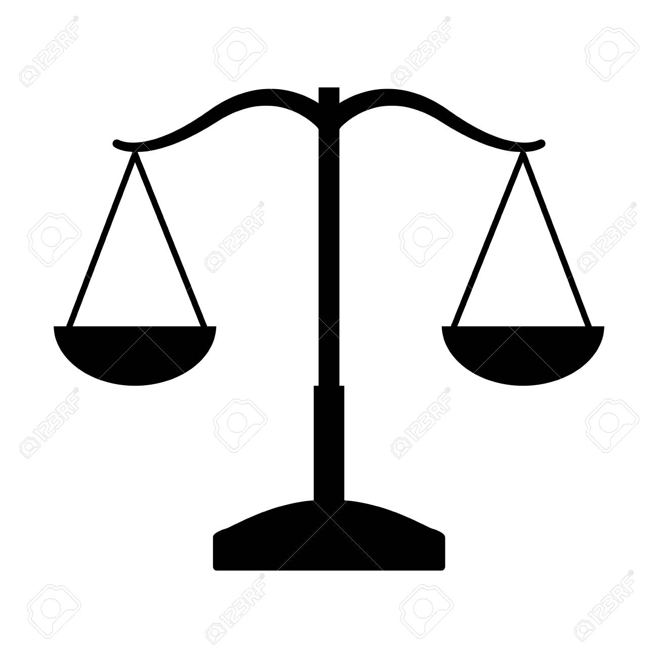 Balance Justice balance justice isolated icon vector illustration design royalty
