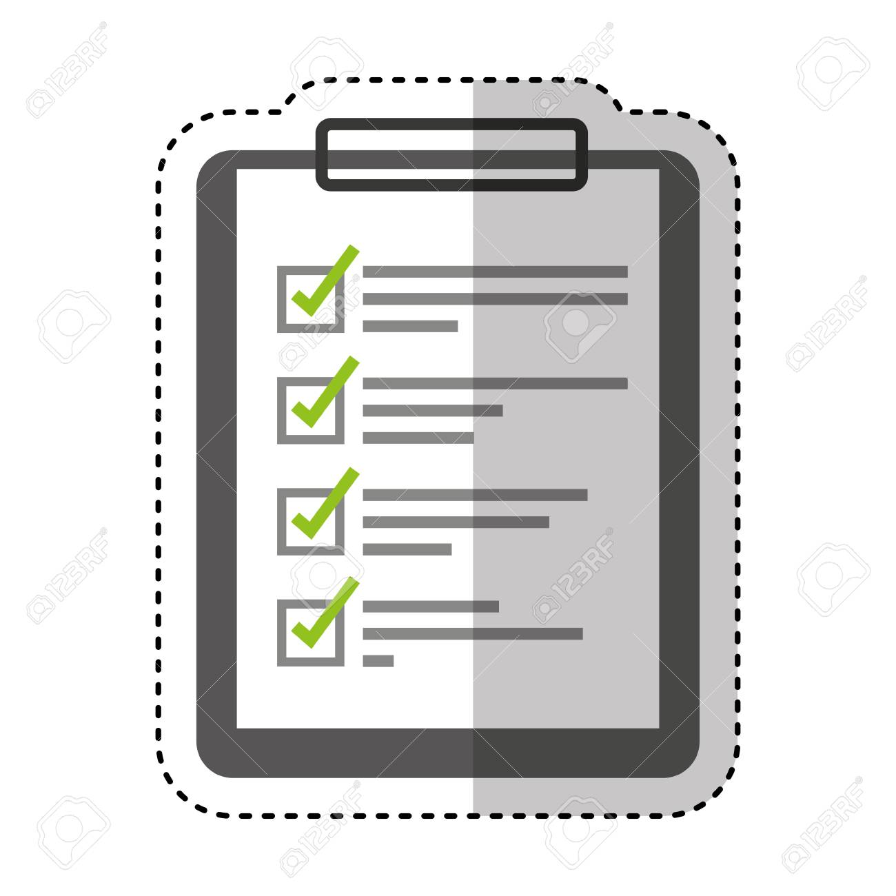 checklist clipboard isolated icon vector illustration design stock vector 68207176