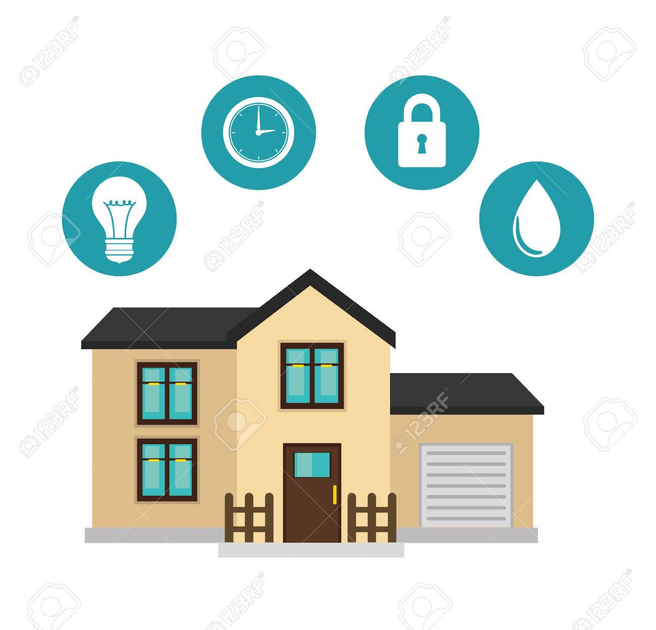 Smart Home Technology Icon Vector Illustration Design Royalty Free ...