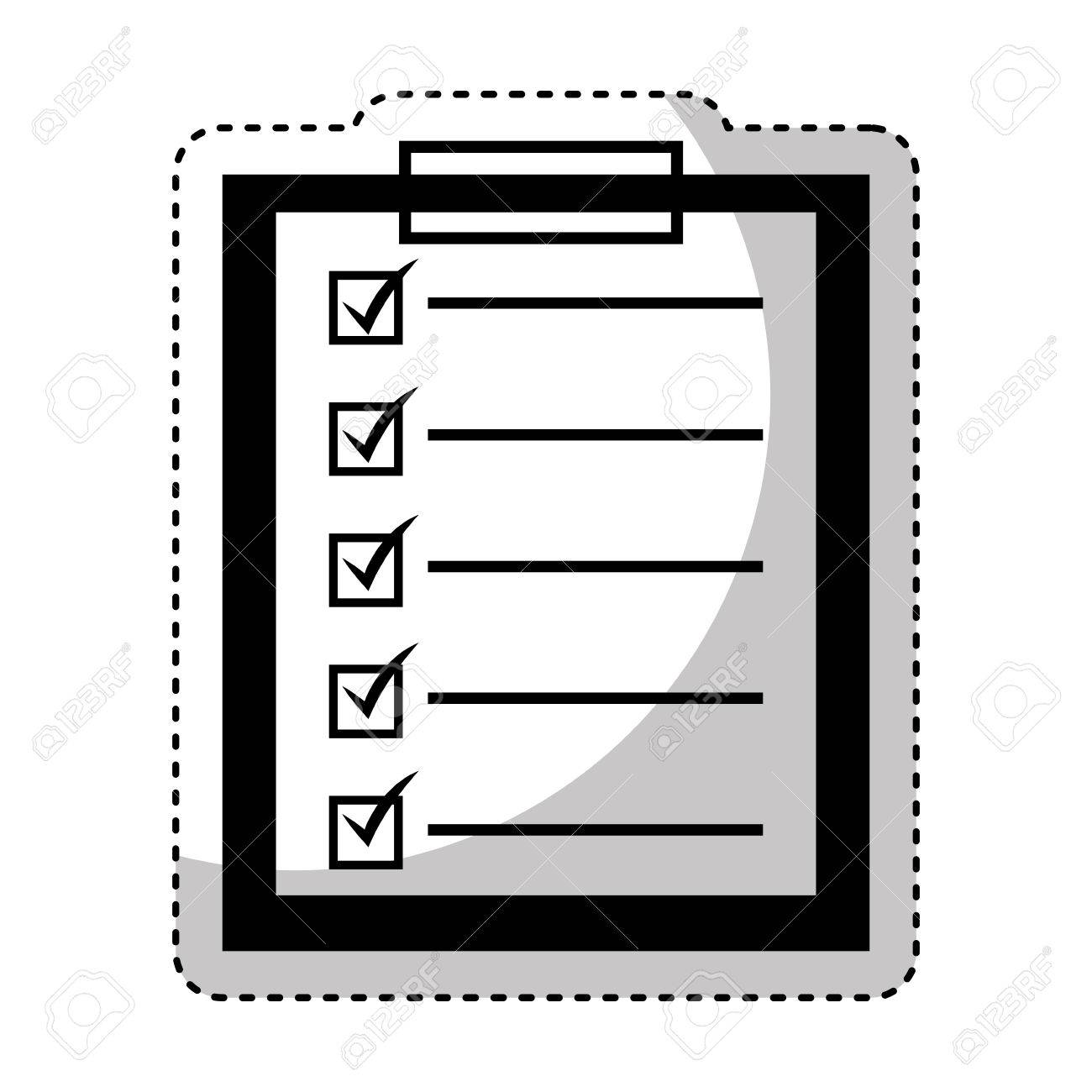 checklist clipboard isolated icon vector illustration design stock vector 69083840