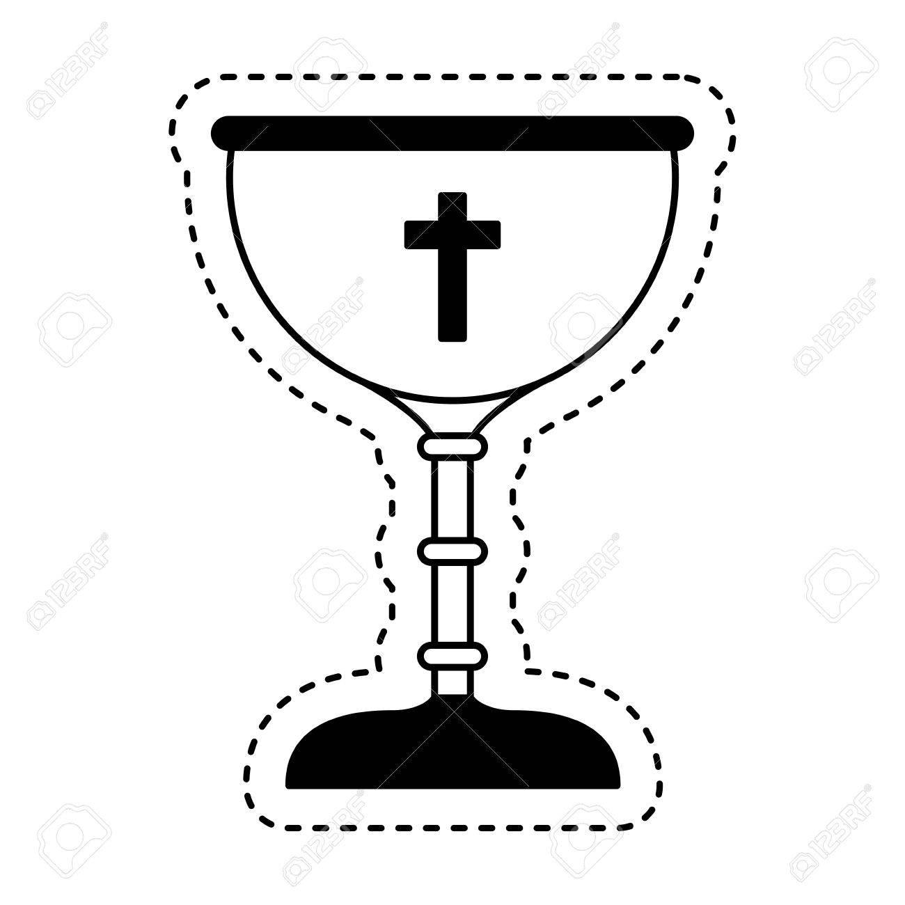 chalice first communion icon vector illustration design - 69886850
