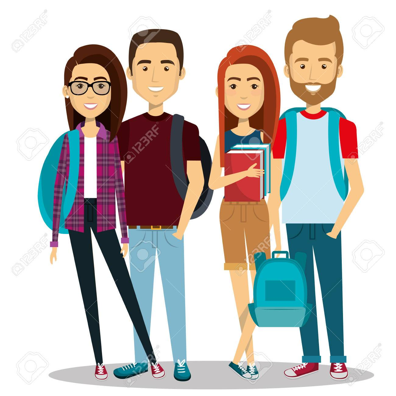 young people group avatars characters vector illustration design rh 123rf com Young People Meeting young adults clipart