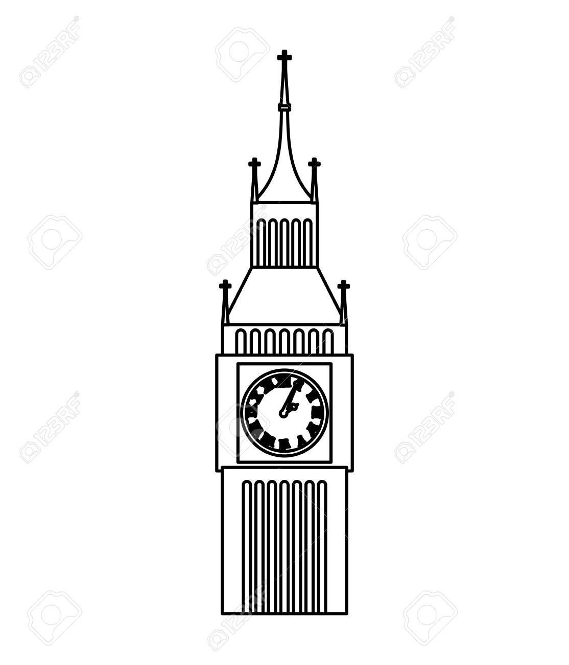 big ben clock isolated icon vector illustration design royalty free rh 123rf com