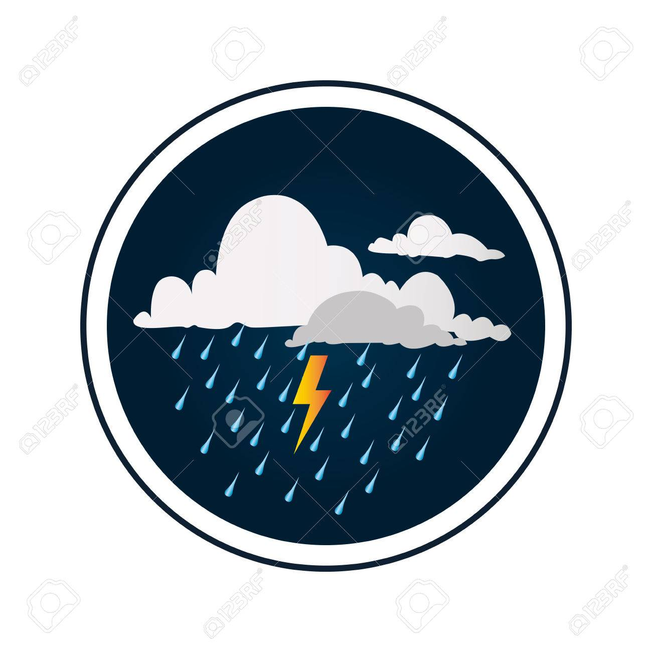 circular border with background with clouds with rain and thunder royalty free cliparts vectors and stock illustration image 71637323 circular border with background with clouds with rain and thunder