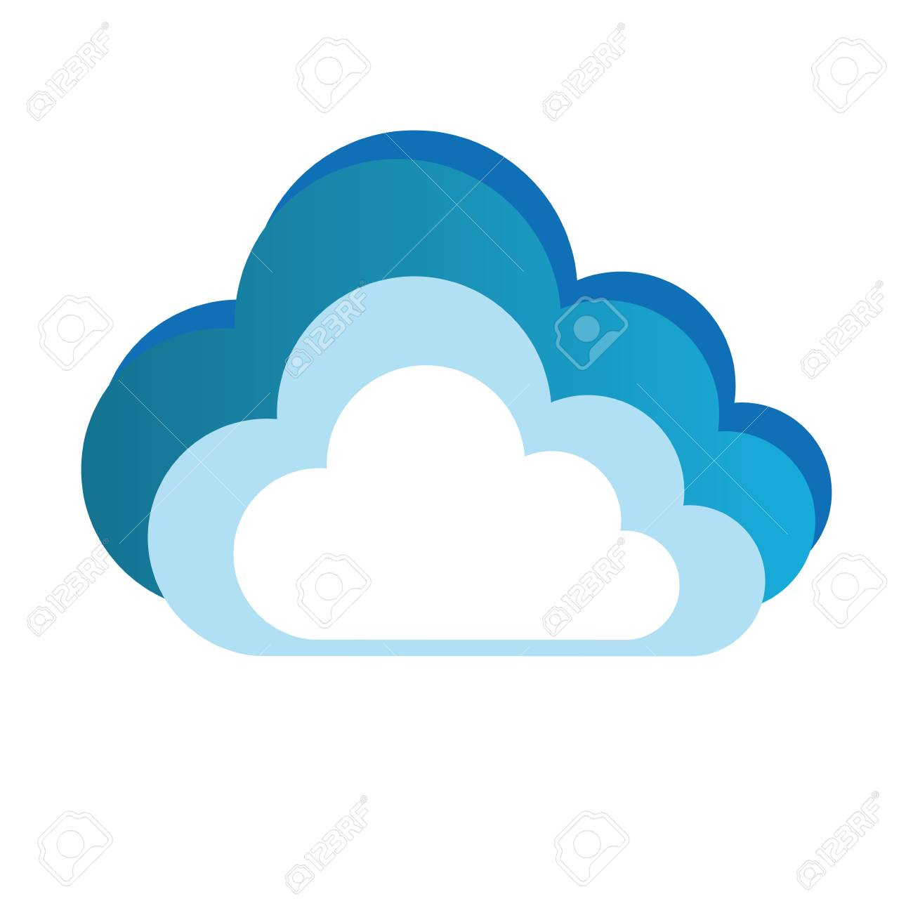 color silhouette with cloud and white background vector illustration rh 123rf com cloud vectors free cloud vector editor