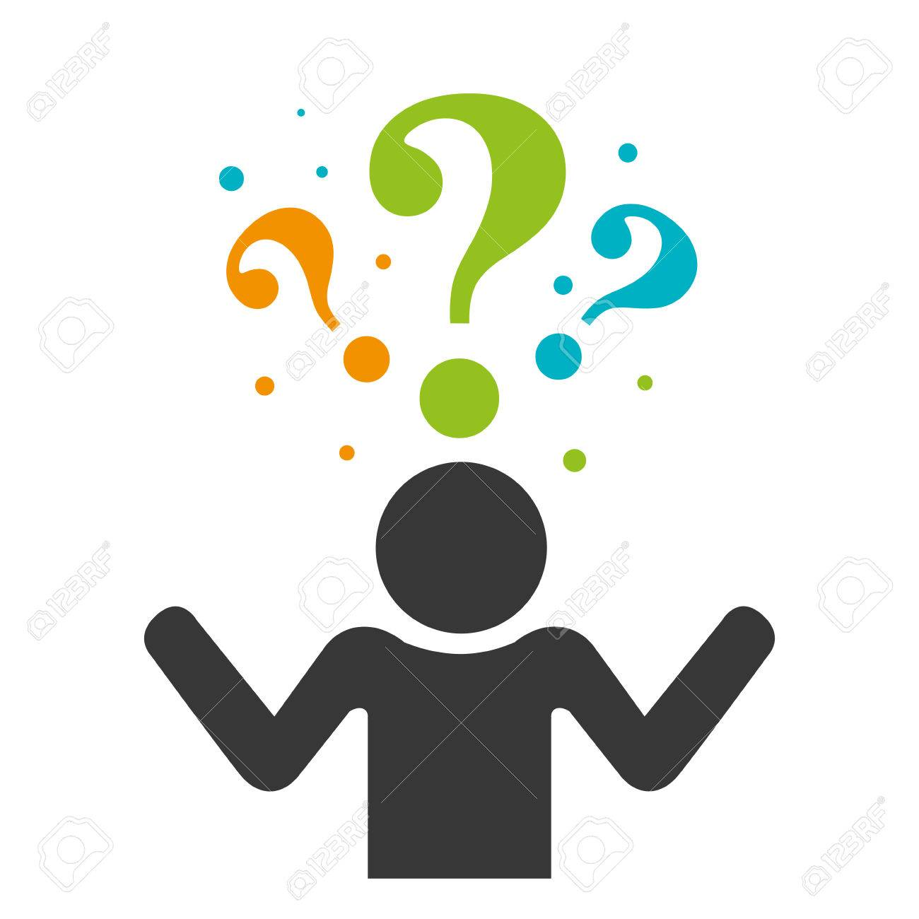 person silhouette with question mark vector illustration design rh 123rf com question mark vector icon question mark vector icon