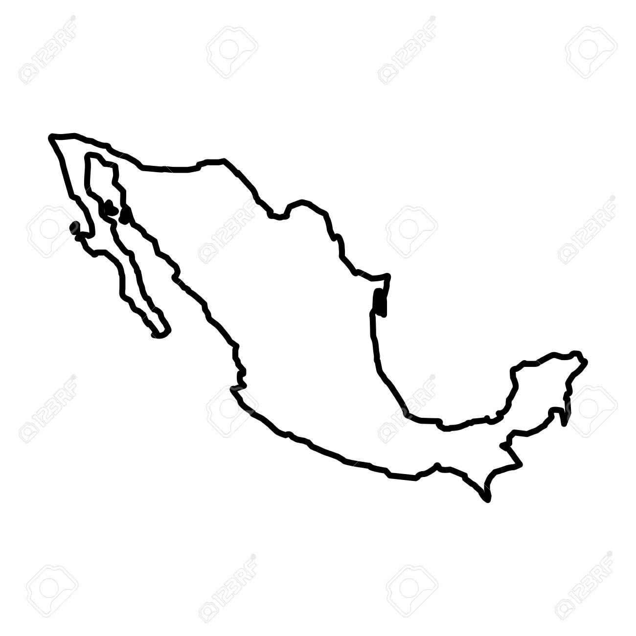 Mexicana Mapa Icónico Ilustración Vectorial De Diseño Ilustraciones