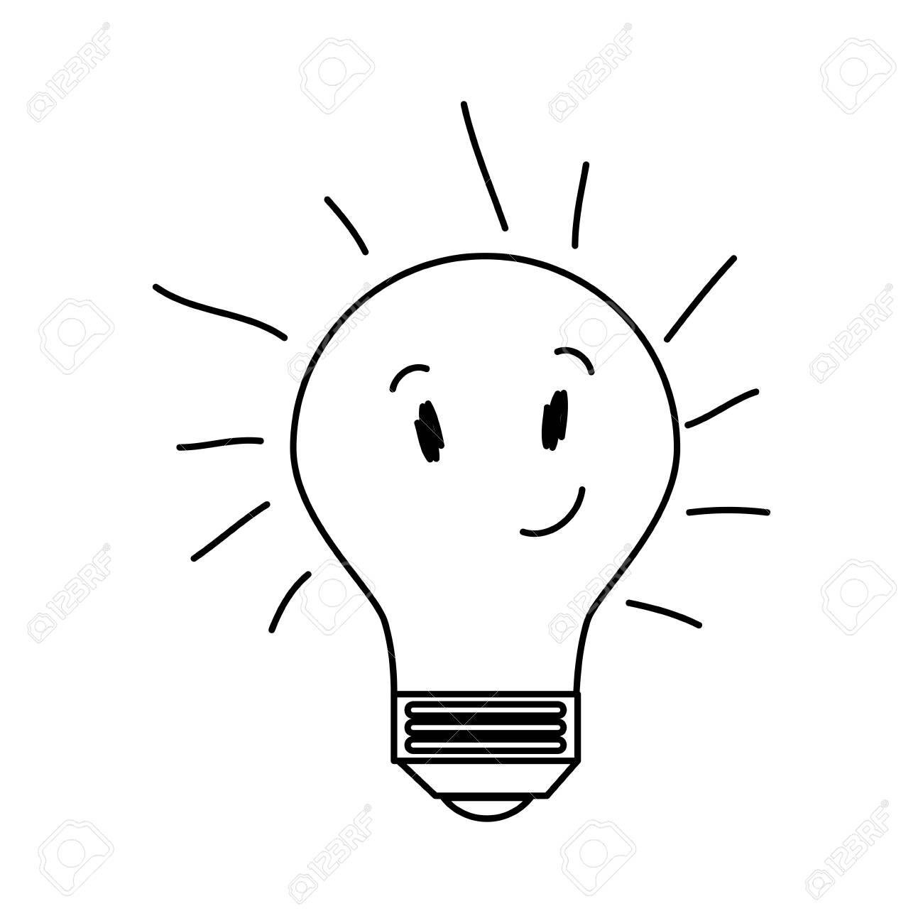 Caractere Lumineux Ampoule Dessin Icone Illustration Vectorielle Design Clip Art Libres De Droits Vecteurs Et Illustration Image 74645770