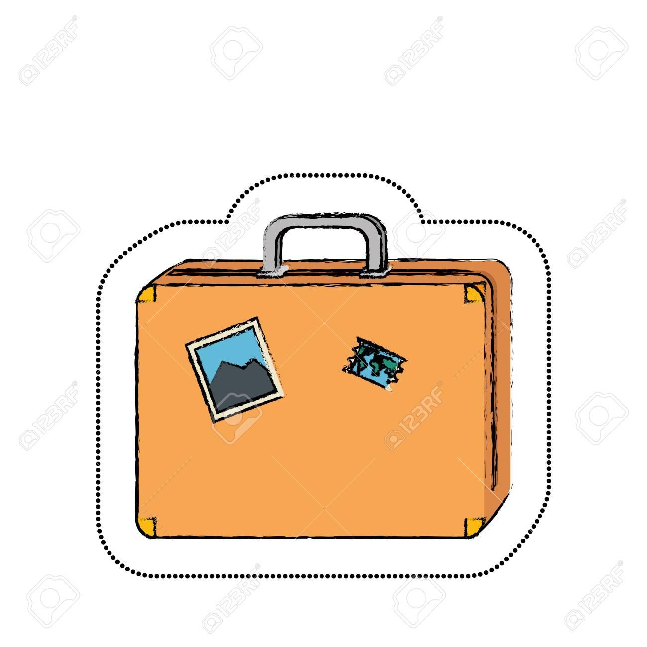 旅行かばんのアイコン ベクトル イラスト デザインを分離しましたの