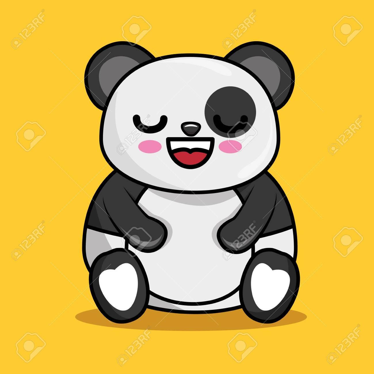 101de3f0ddd591 cute panda character kawaii style vector illustration design Stock Vector -  74687088