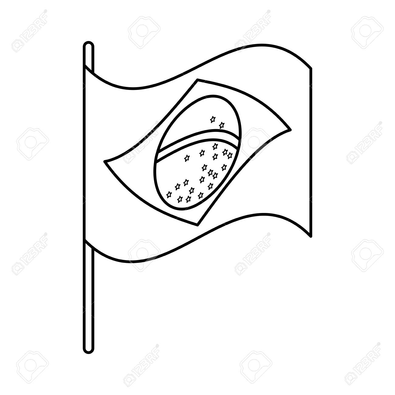 brazil flag isolated icon vector illustration design