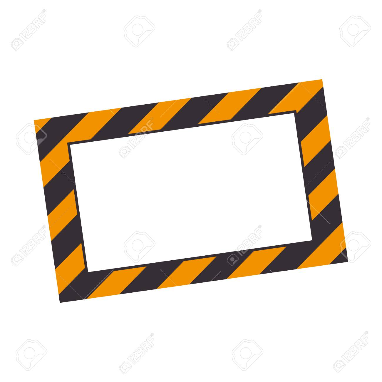 illustration of a blank construction information label icon vector