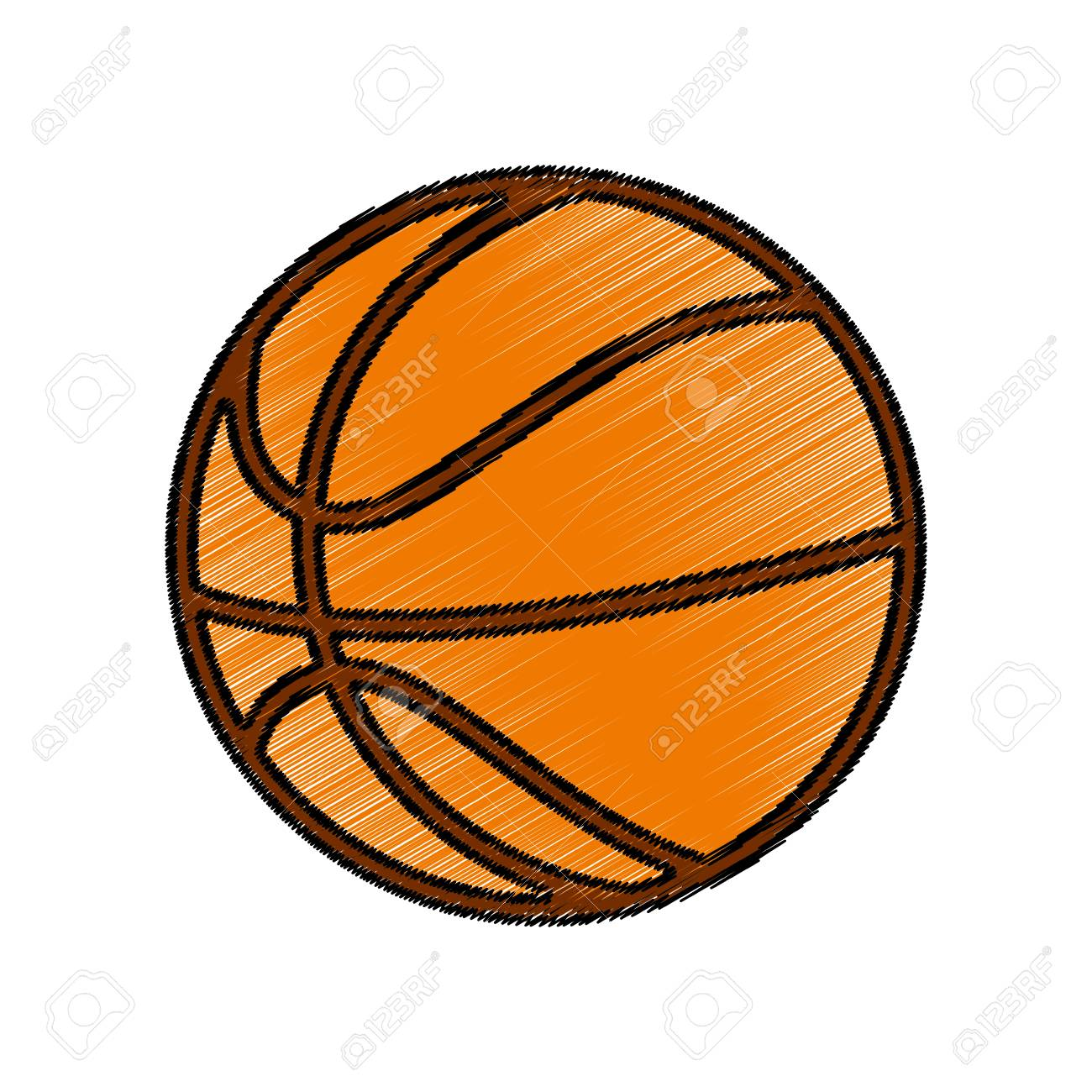 Basketball Balloon Isolated Icon Vector Illustration Design