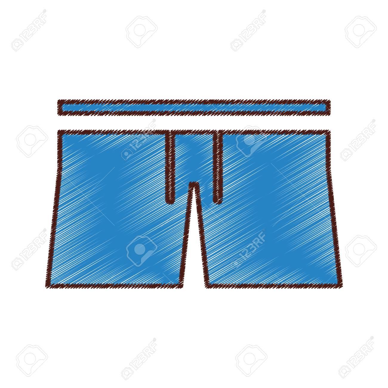 Mannelijke Badmode geïsoleerde pictogram vector illustratie ontwerp