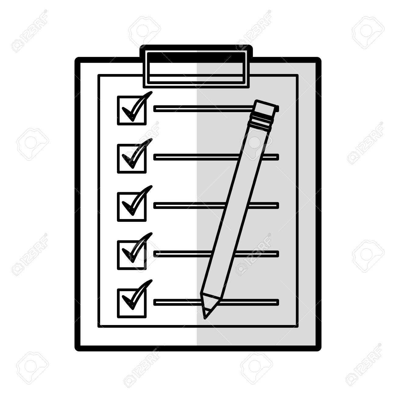 checklist clipboard isolated icon vector illustration design stock vector 77593272