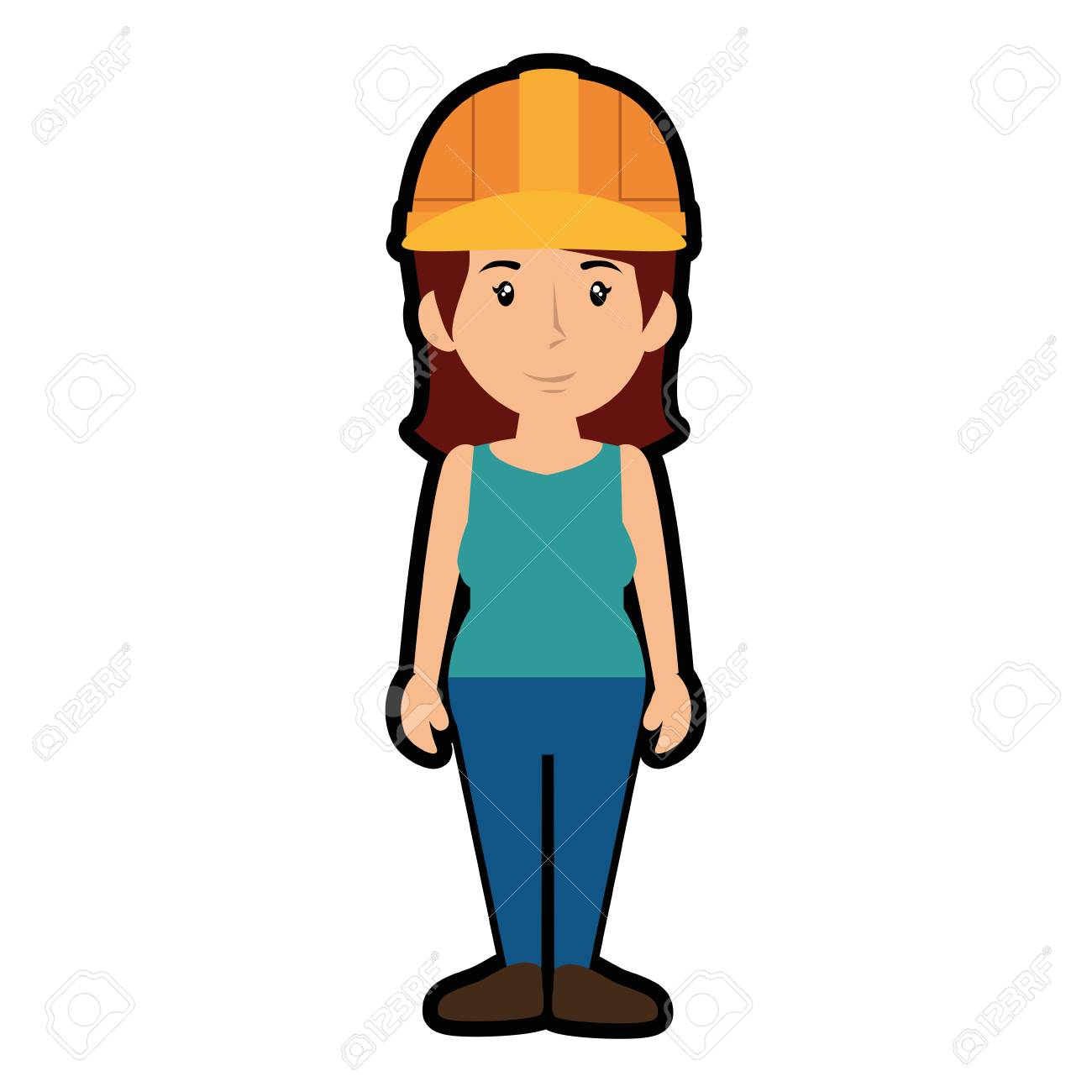 Image result for CARTOON WOMAN  SAFETY HELMET