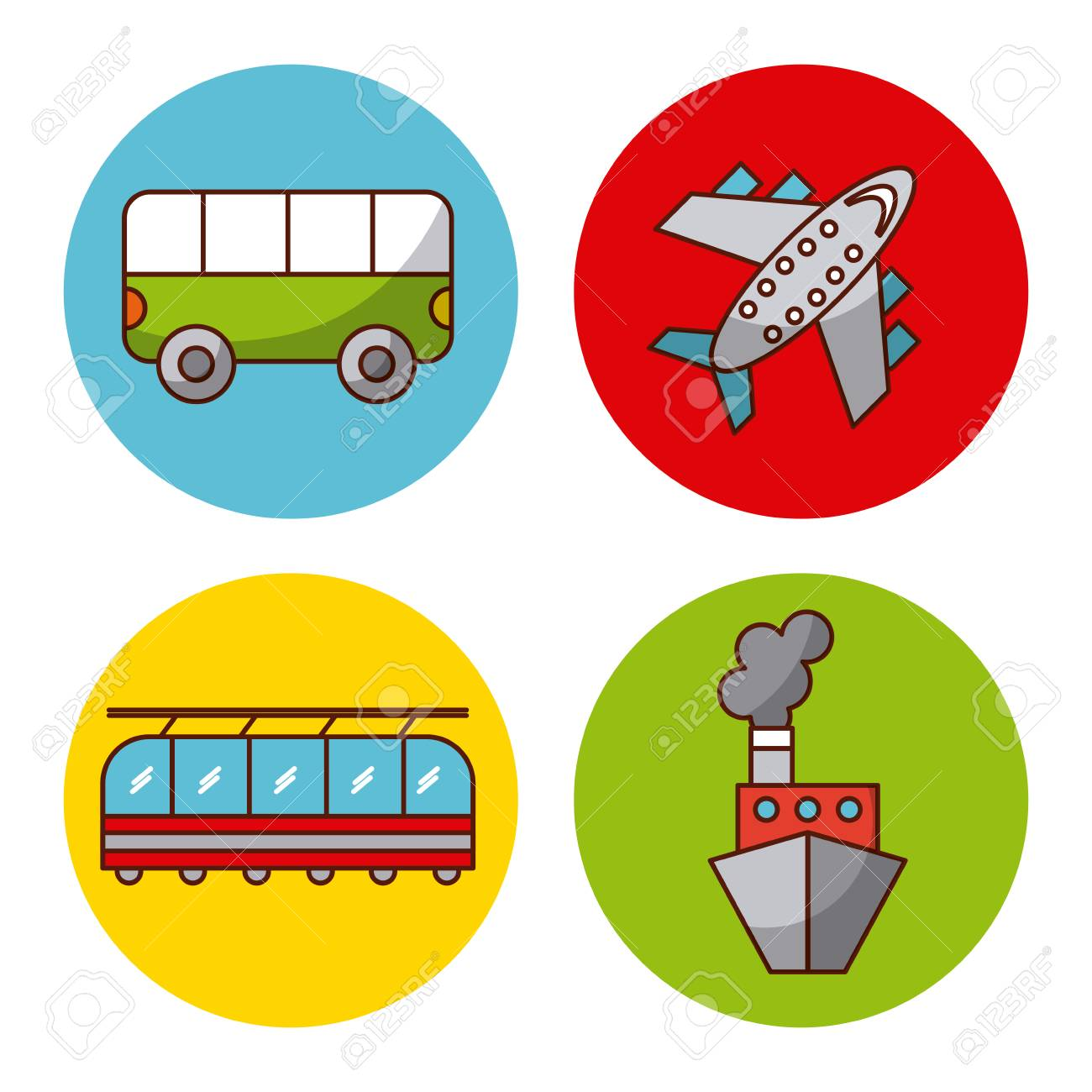 Tourists Traveling By Train - Download Free Vectors, Clipart Graphics & Vector  Art