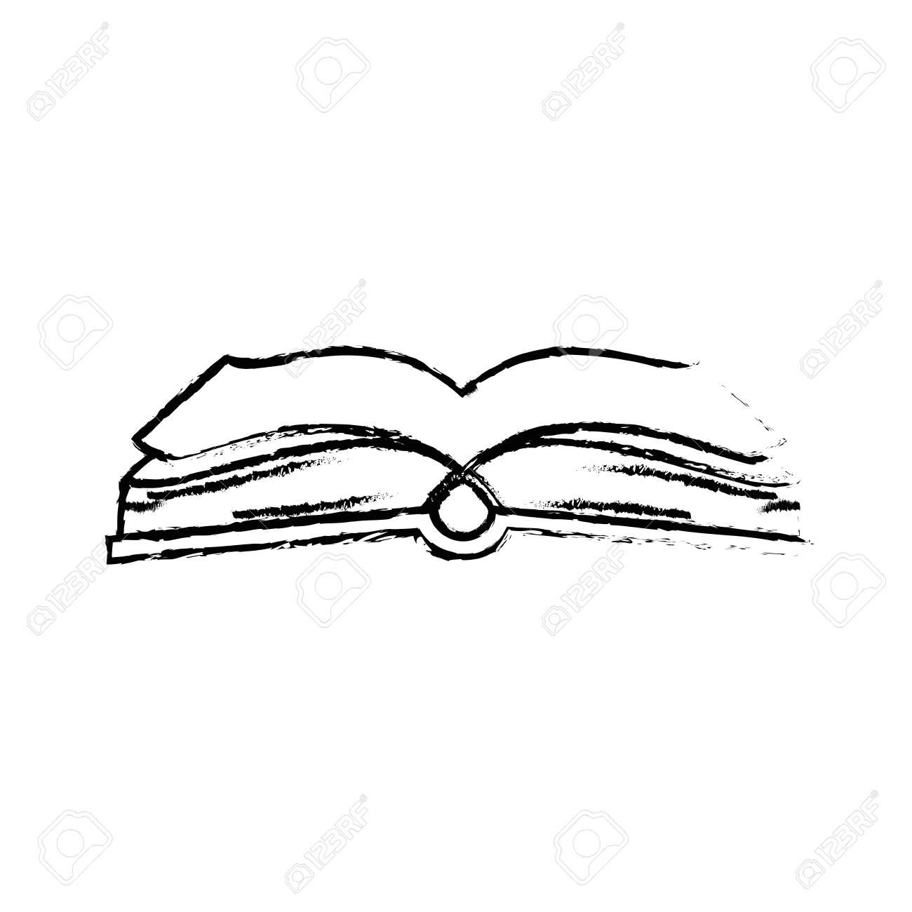 Livre Ouvert Symbole Icone Vecteur Illustration Graphisme