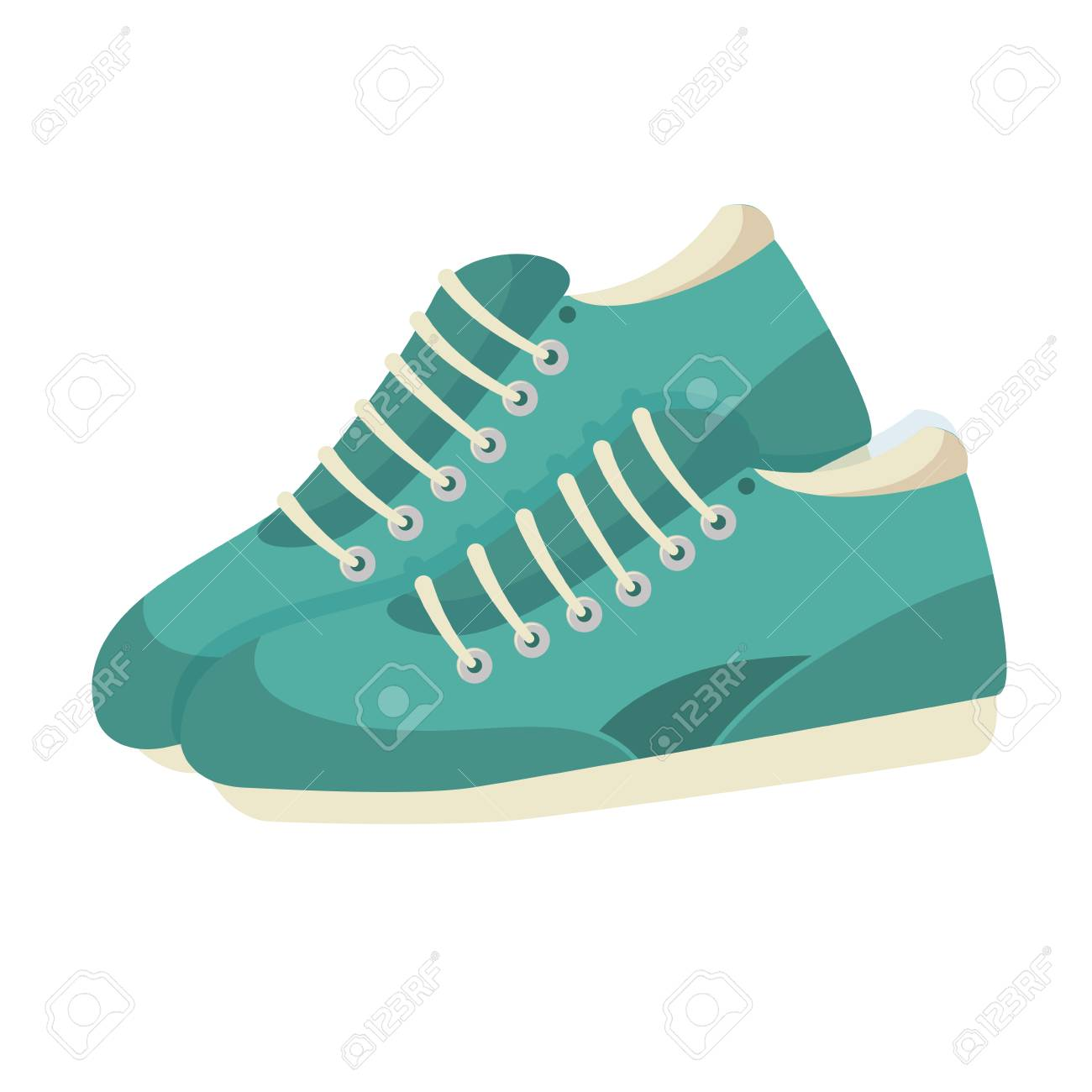 tennis shoes isolated icon vector illustration design - 78358962