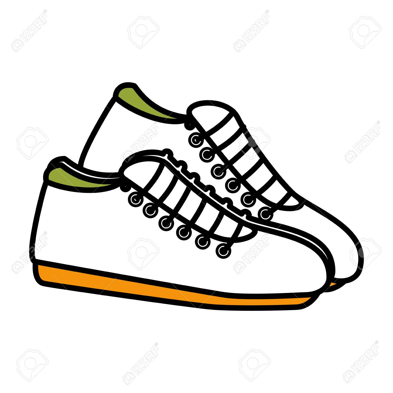 066820f683db tennis shoes isolated icon vector illustration design Stock Vector -  78438386