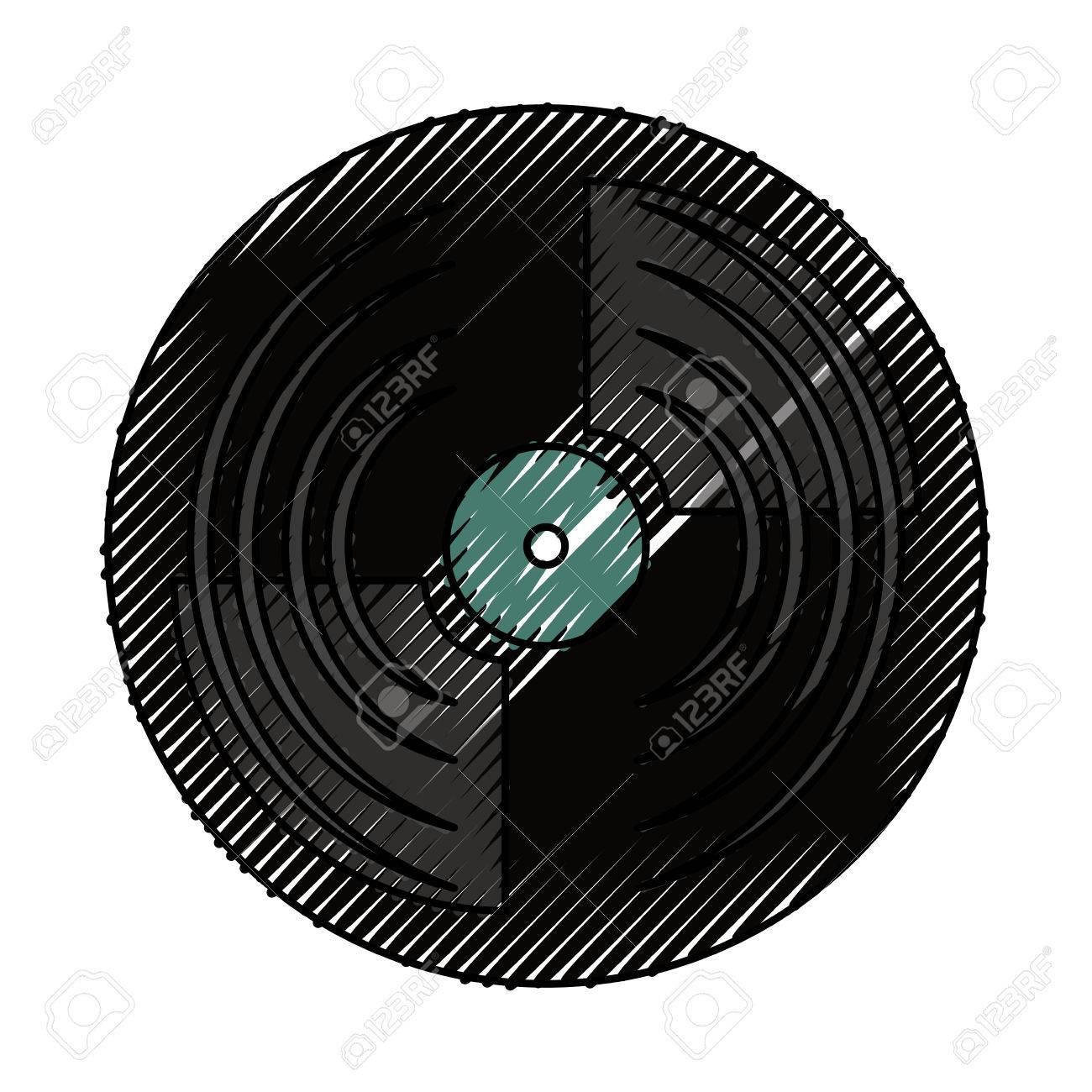 vinyl record turntable icon vector illustration graphic design rh 123rf com vinyl record vector logo vinyl record vector tutorial