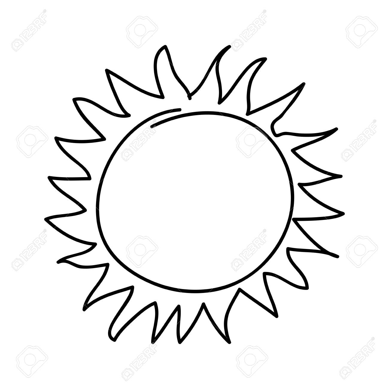 sol de verano dibujo icono vector ilustración diseño
