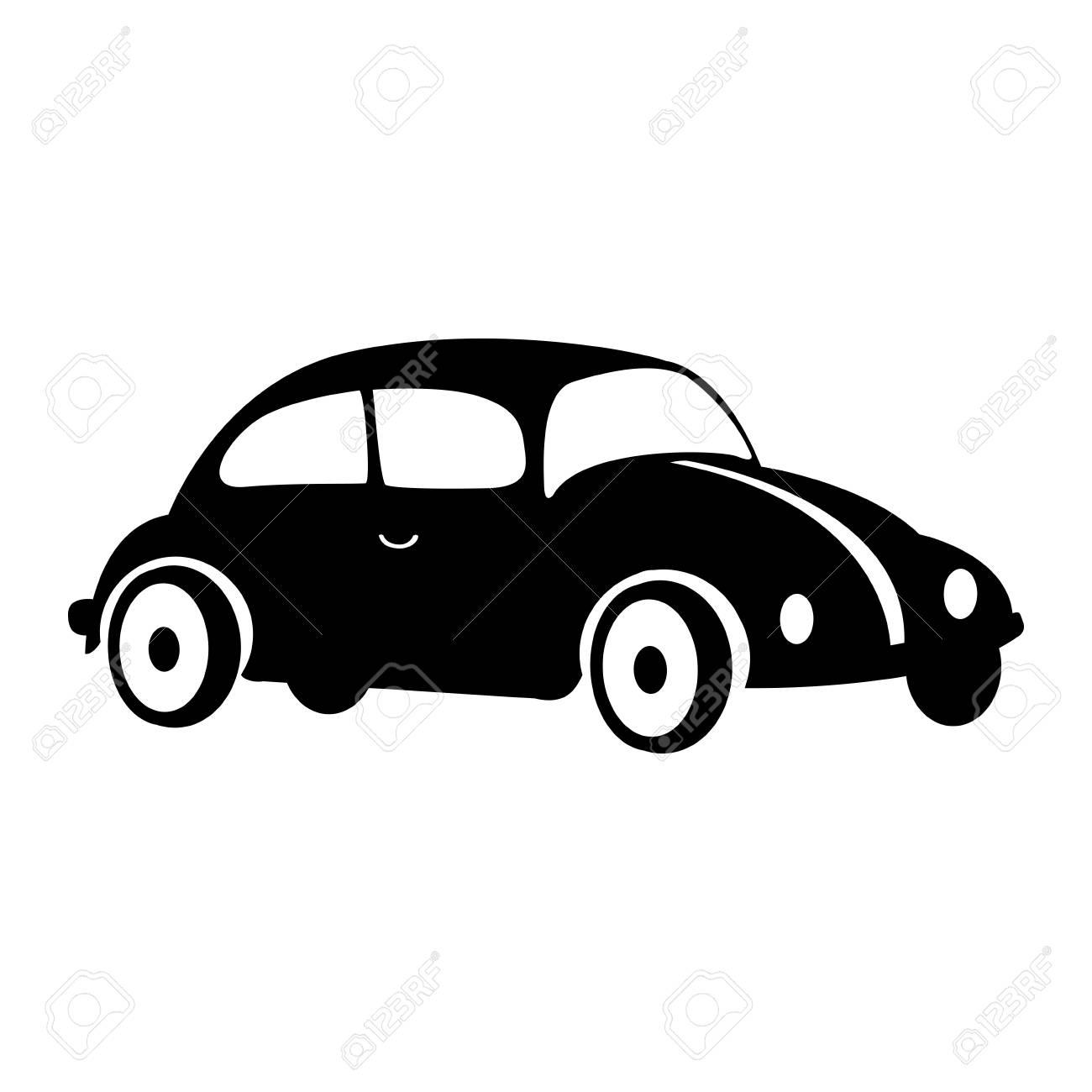 車ビートル分離アイコン ベクトル イラスト デザイン の写真素材画像