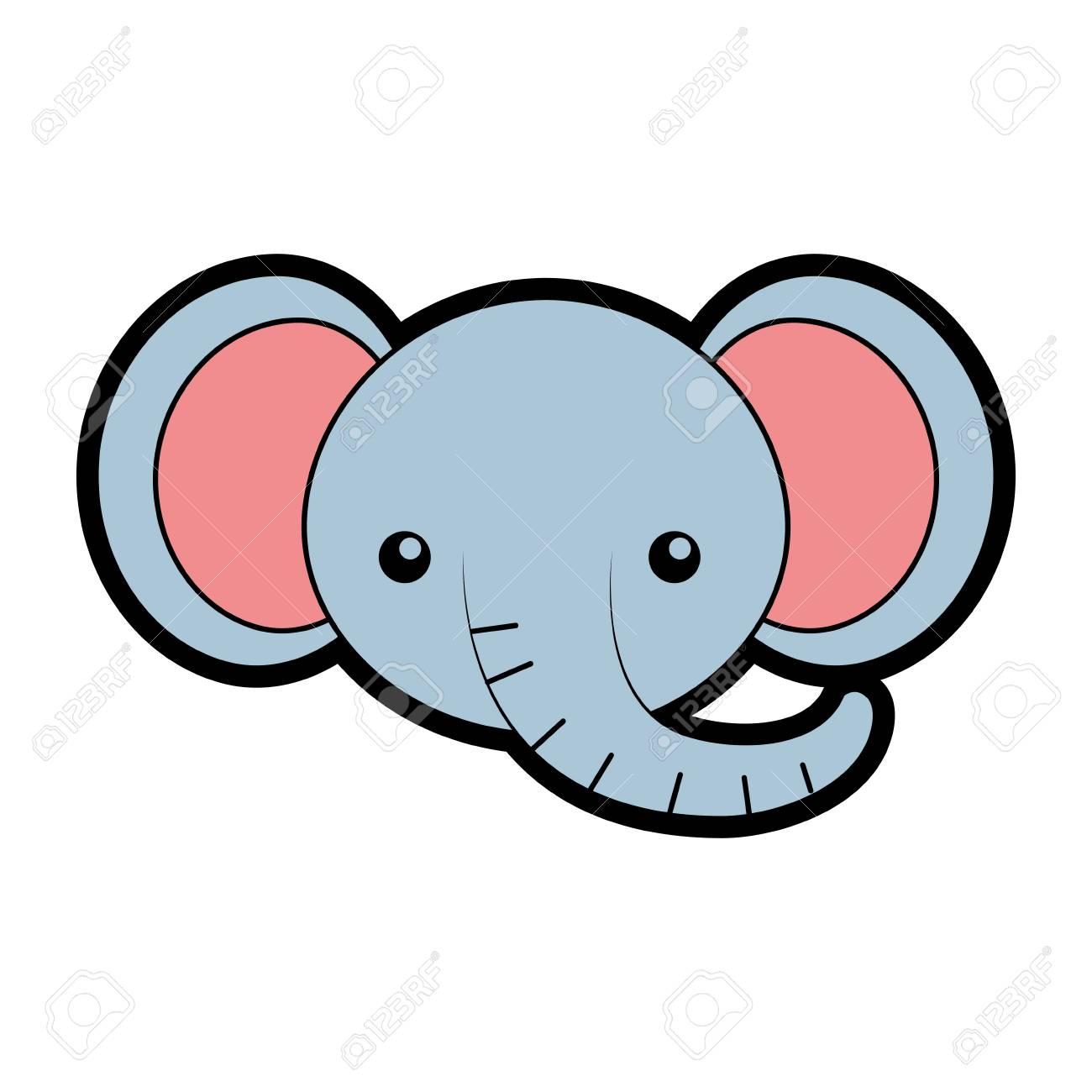Bonito Página Para Colorear Elefante Con Diseño Bandera - Dibujos ...