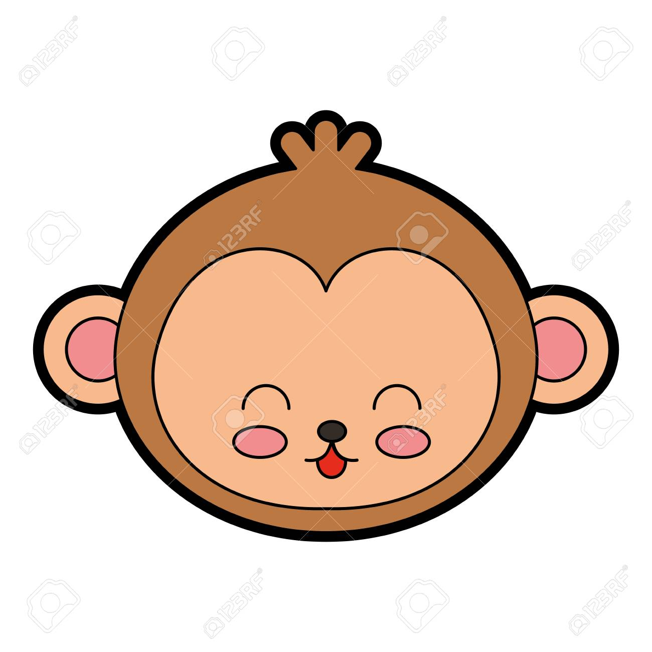 cute color monkey face cartoon graphic deisgn royalty free cliparts rh 123rf com baby monkey face cartoon angry monkey face cartoon
