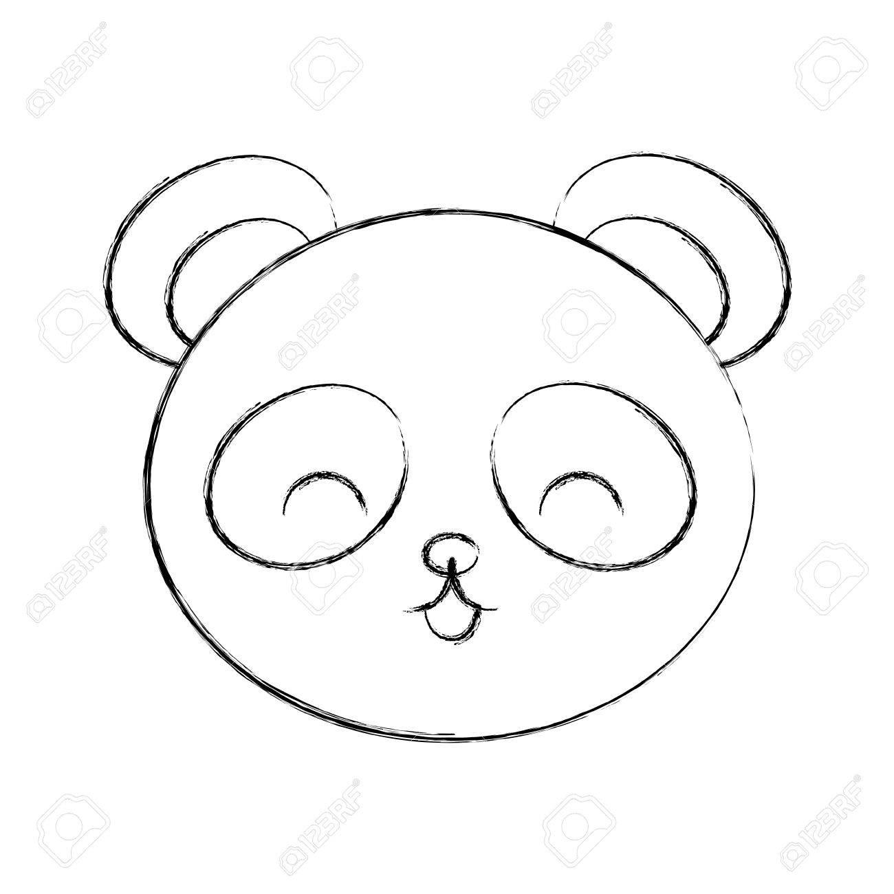 Lindo Dibujo Dibujar Panda Oso Cara Diseño Gráfico Fotos Retratos Imágenes Y Fotografía De Archivo Libres De Derecho Image 79192859