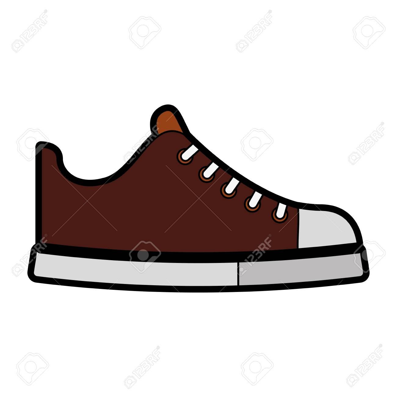 cute brown shoe cartoon vector graphic design royalty free cliparts rh 123rf com victor shoe store vector shoe print