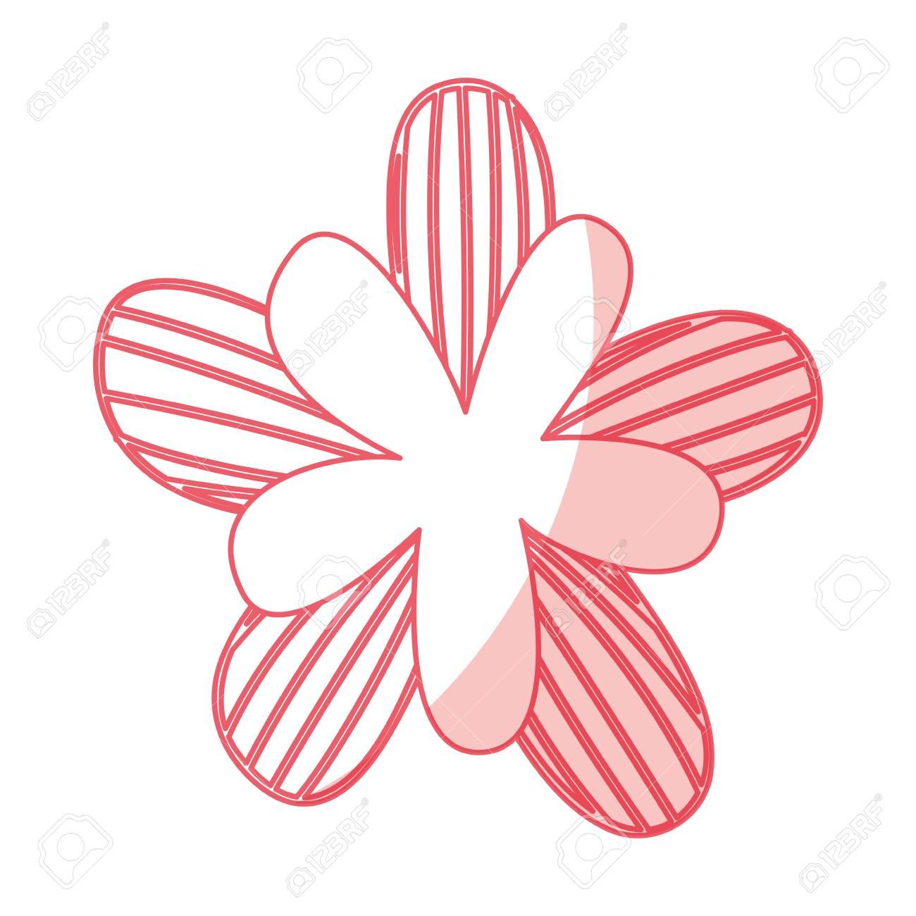 かわいい花の装飾的なベクトル イラスト デザインを描くのイラスト素材