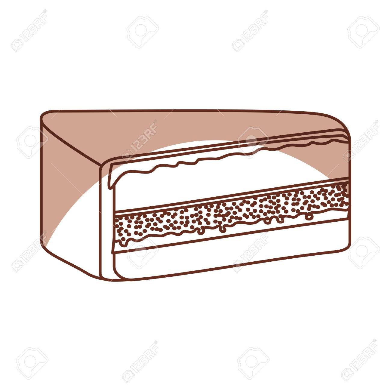 04c1fd439438 Vector - yummy sweet cake slide piece vector illustration graphic design