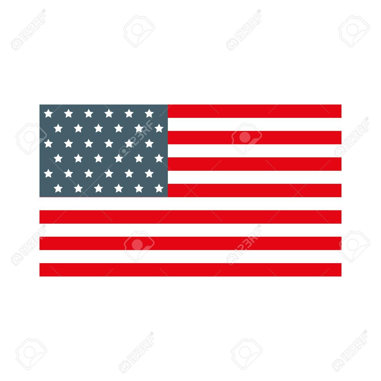cute american flag icon cartoon vector graphic design royalty free rh 123rf com american flag graphic design american flag graphic for wk2