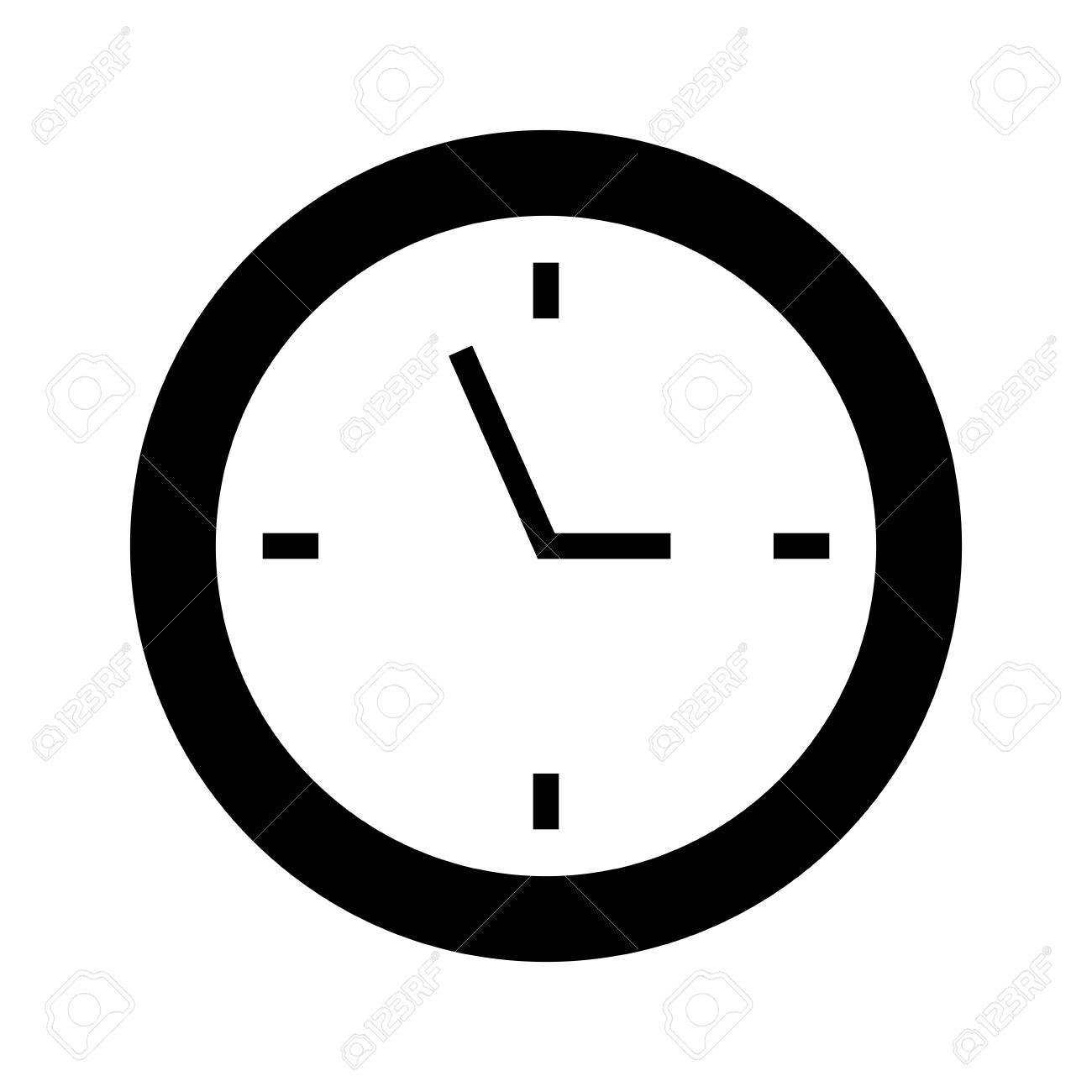 Reloj Gráfico Dibujos Diseño Negro Icono Vector Animados KJ13TlFc