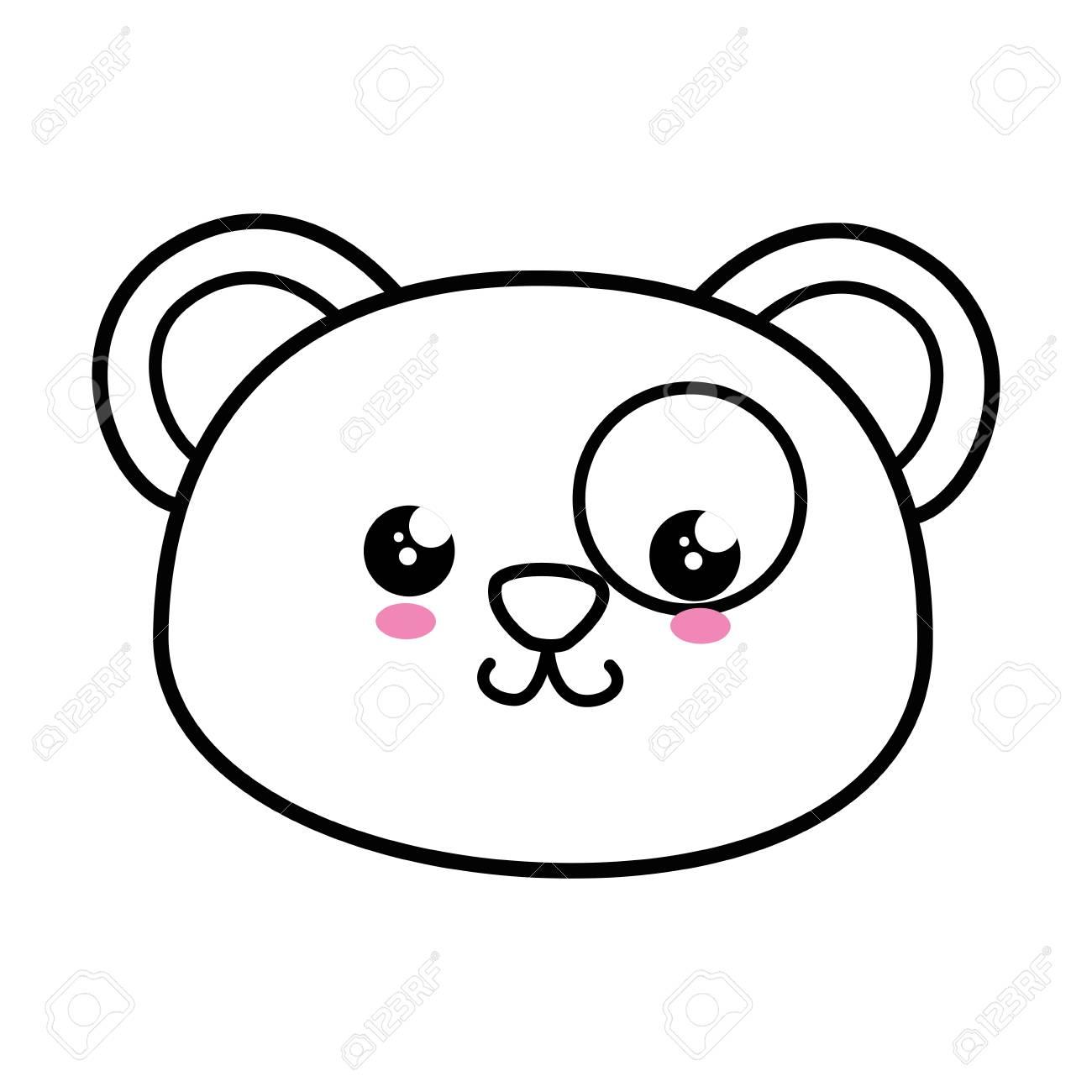 Panda Kawaii Dessin Anime Icone Vector Illustration Graphisme Clip Art Libres De Droits Vecteurs Et Illustration Image 79413220