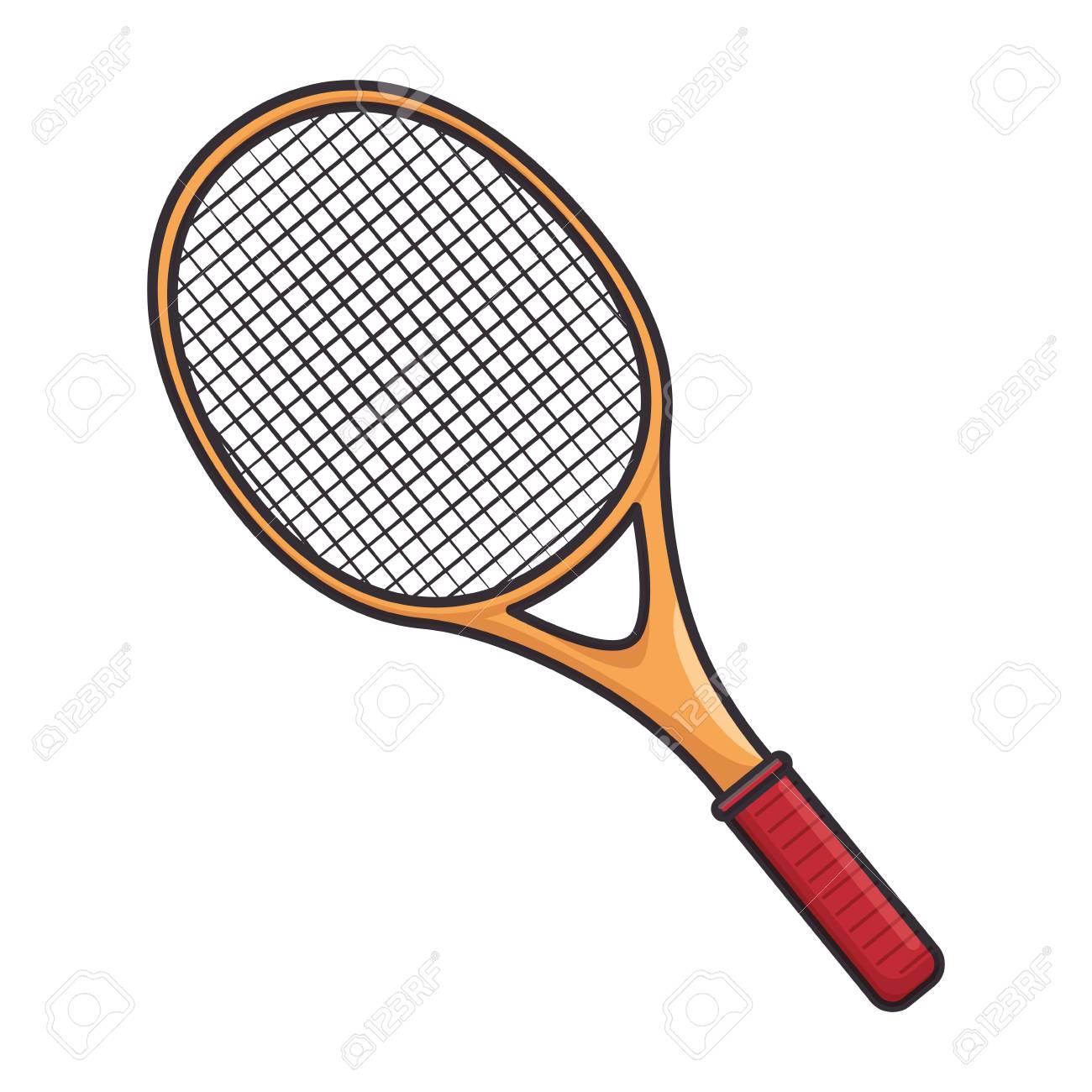 Tennis Racket Equipment Icon Vector Illustration Graphic Design