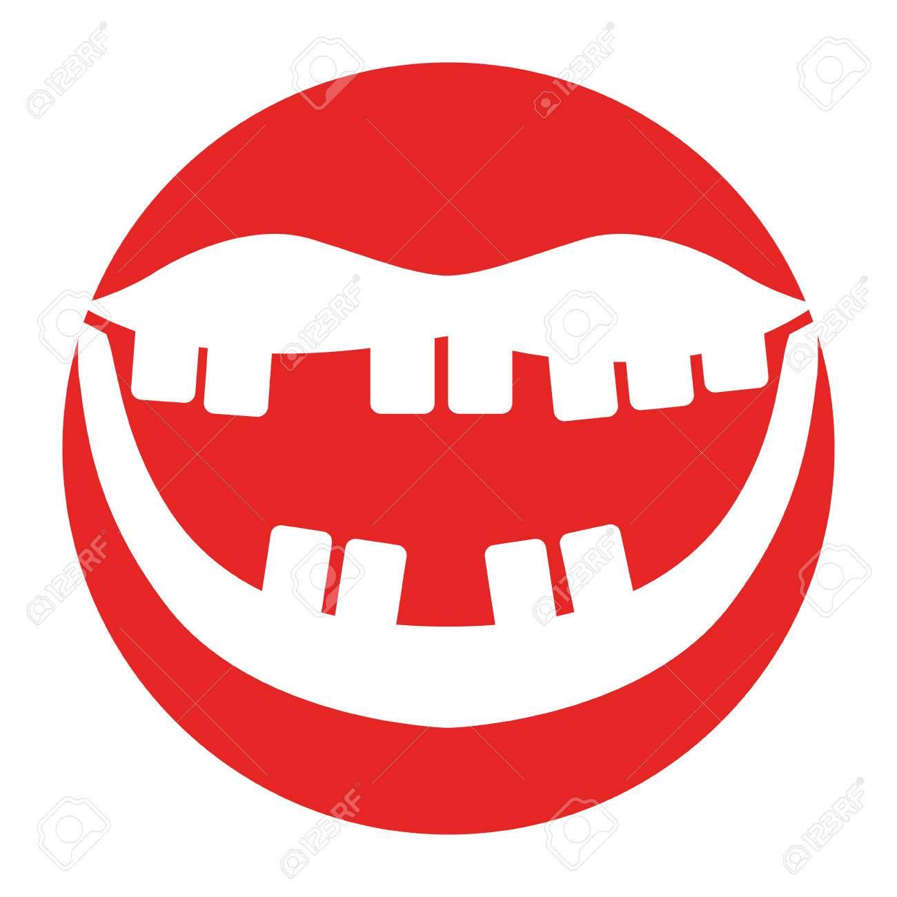 口の中で悪い歯ベクトル イラスト デザインのイラスト素材ベクタ