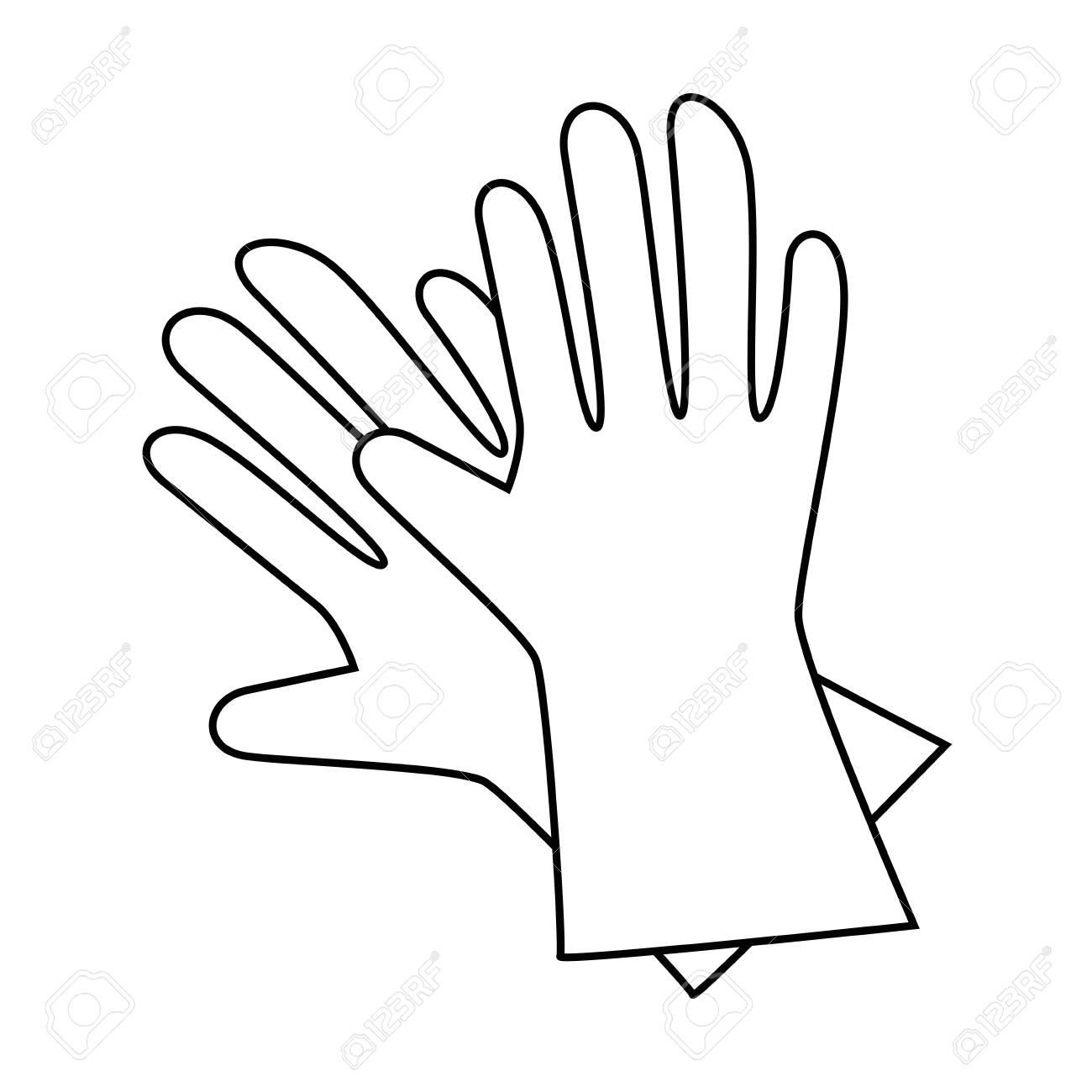 gardening gloves icon over white background vector illustration